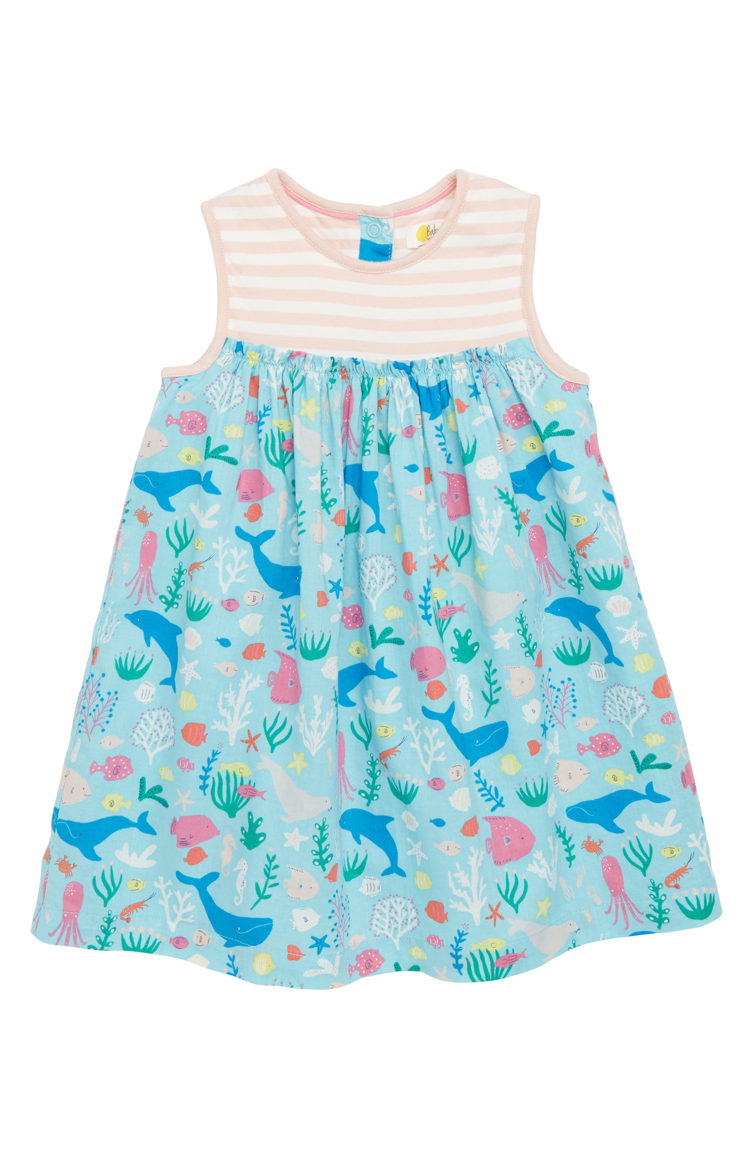 Mini Boden Hotchpotch Tank Dress (Baby Girls & Toddler Girls)