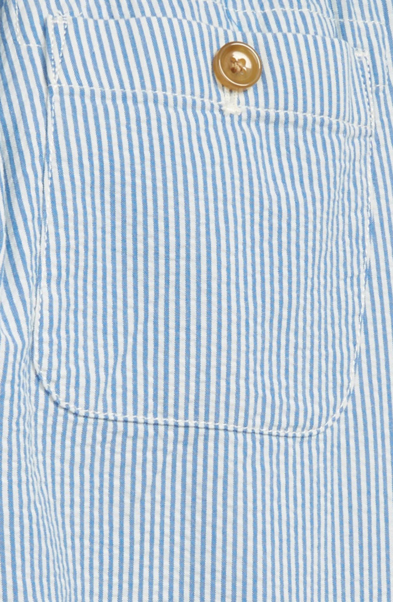 Seersucker Pants,                             Alternate thumbnail 3, color,                             Crisp Azure White