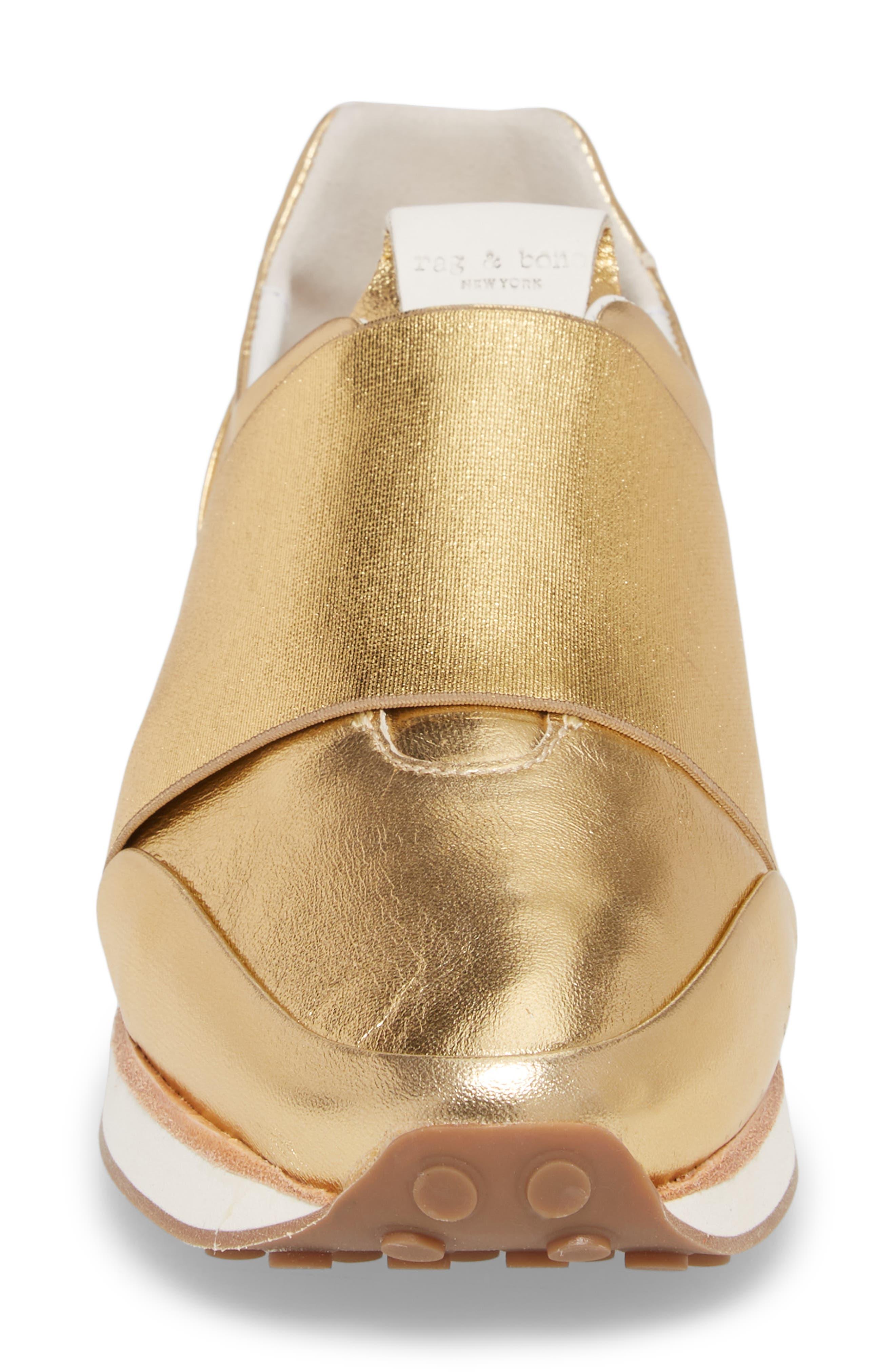 Dylan Sneaker,                             Alternate thumbnail 4, color,                             Gold
