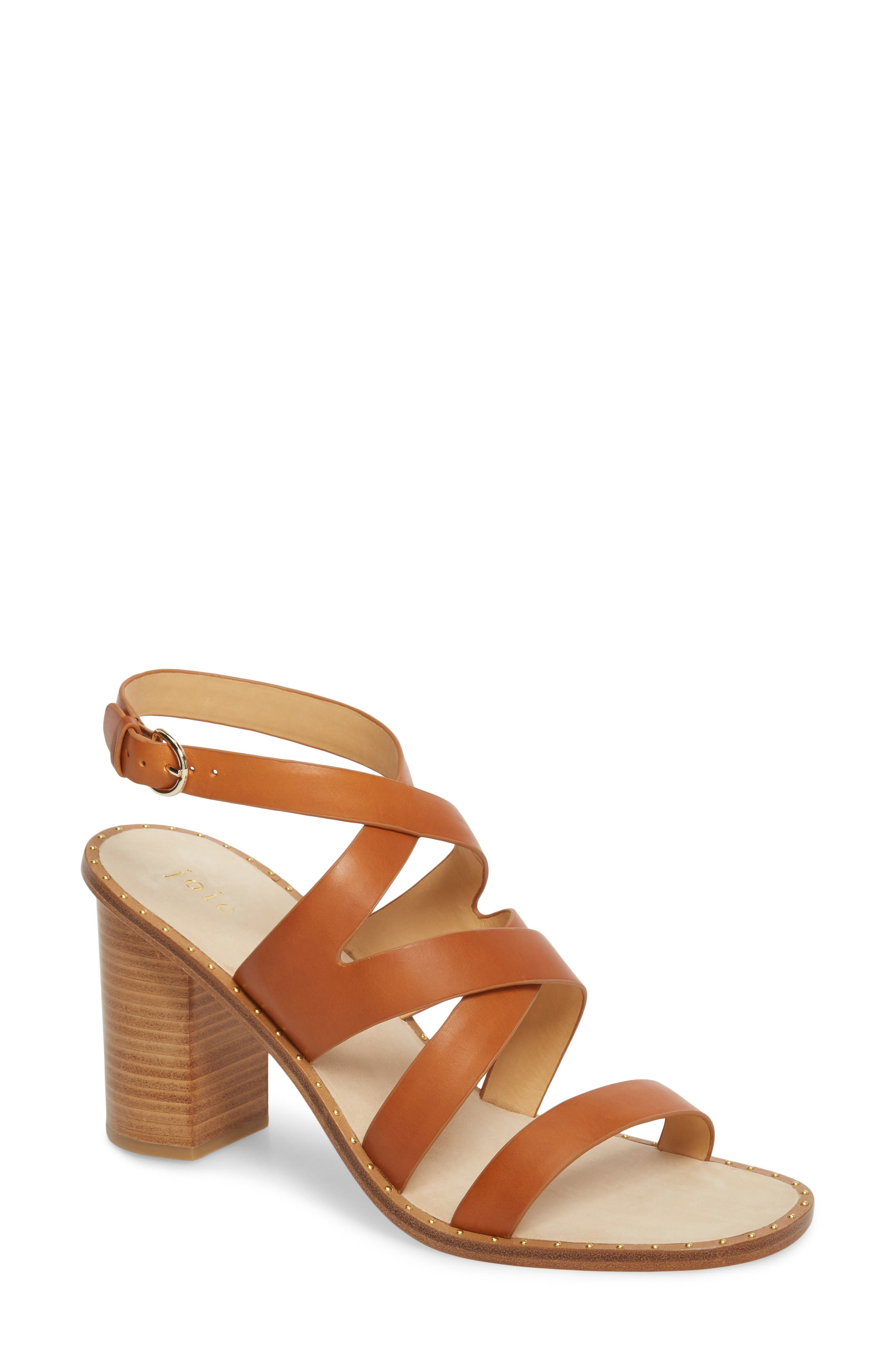 Onfer Studded Strappy Sandal,                             Main thumbnail 1, color,                             Tan