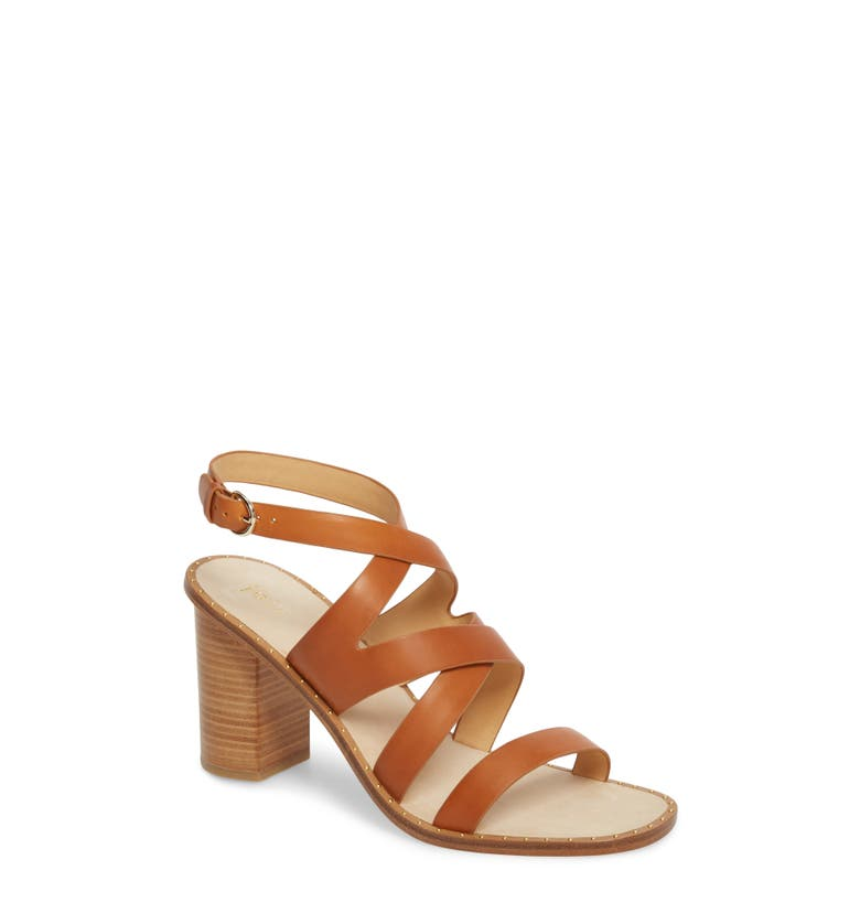 bfd44119d808 Joie Onfer Strappy Leather Block-Heel Sandal In Tan