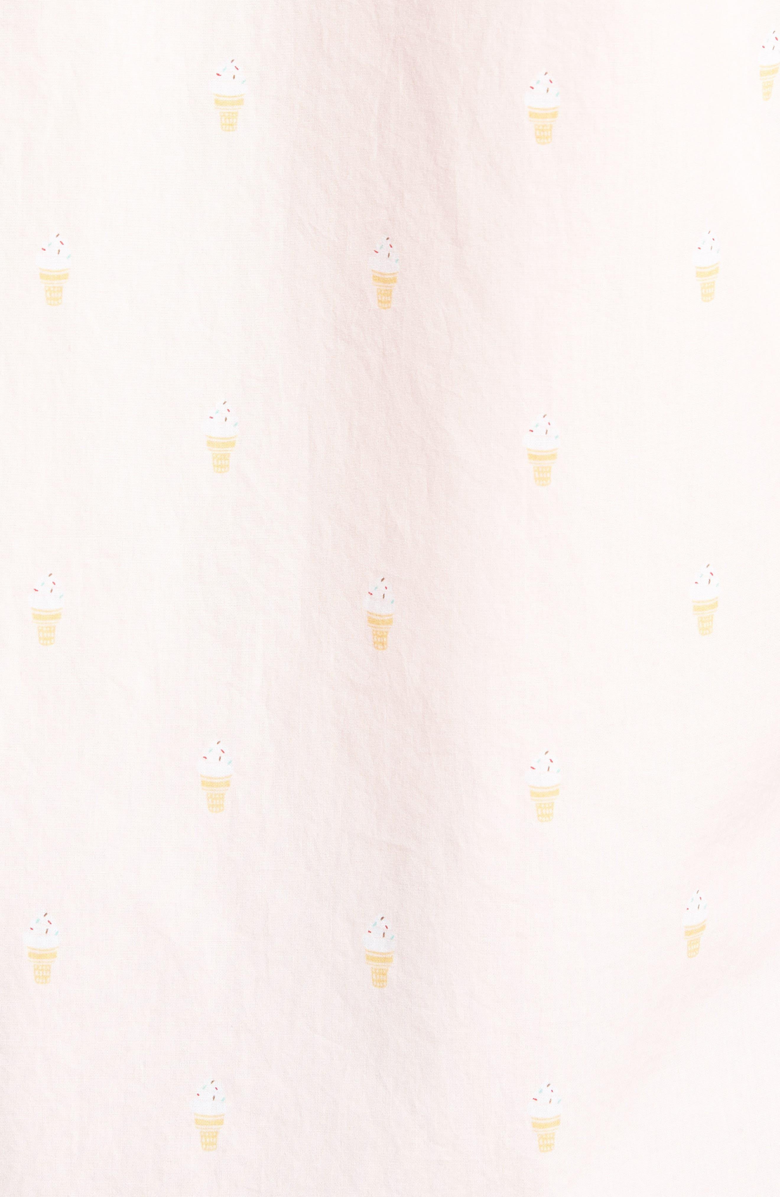 Trim Fit Print Short Sleeve Sport Shirt,                             Alternate thumbnail 5, color,                             Pink Breathe Ice Cream Cones