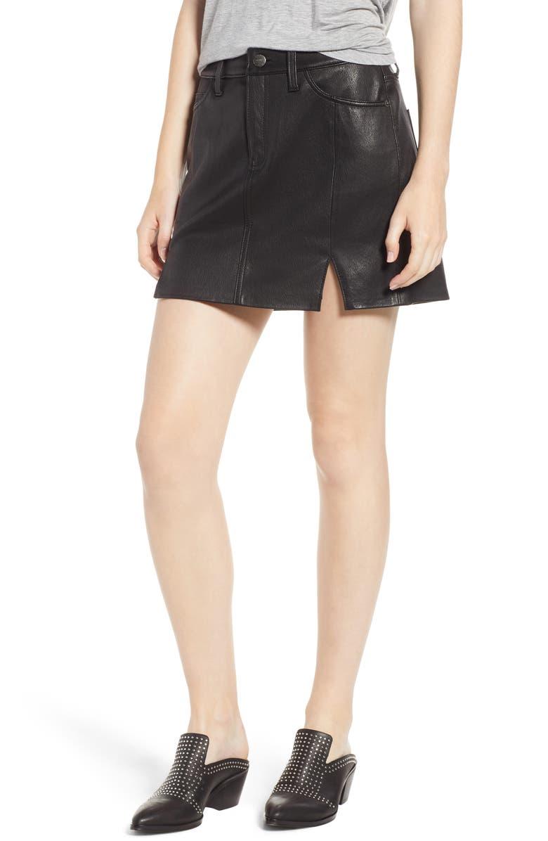 The Leather Miniskirt