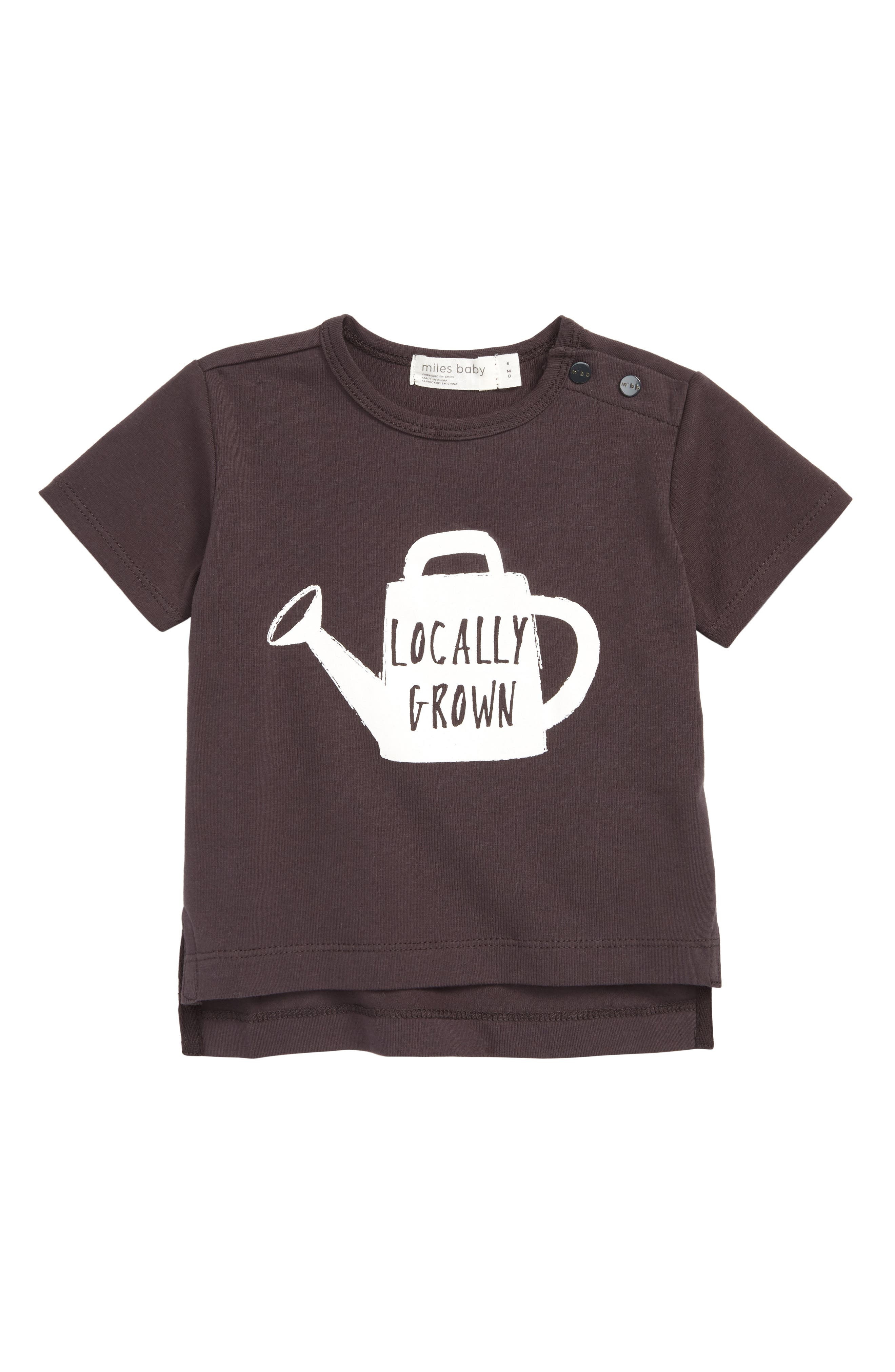 Locally Grown Graphic T-Shirt,                             Main thumbnail 1, color,                             Dark Grey