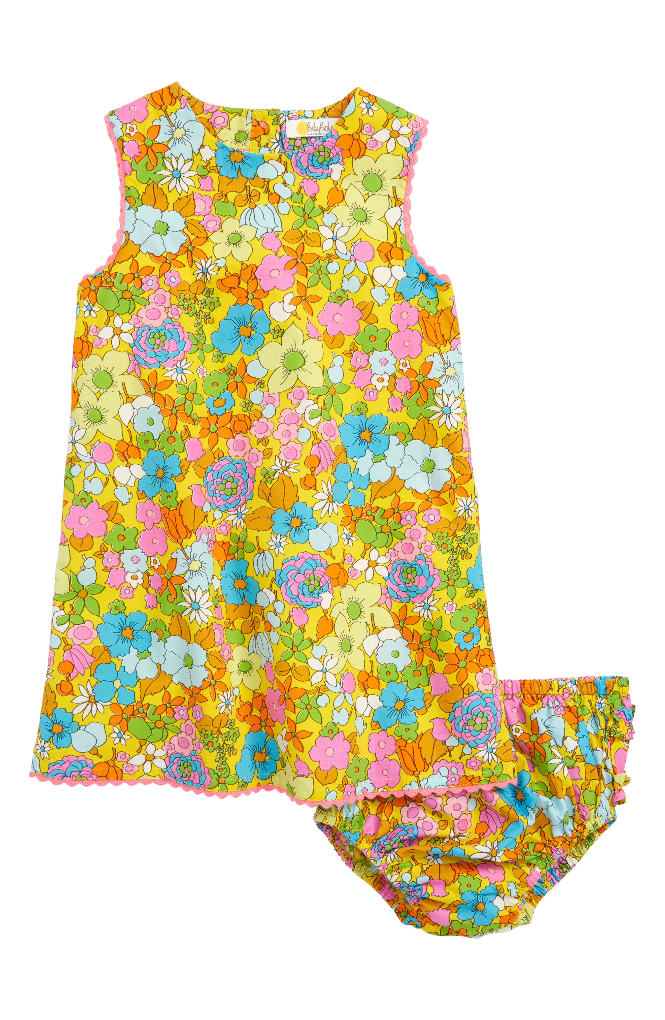 High Summer Woven Lace Dress,                             Main thumbnail 1, color,                             Multi Retro Floral