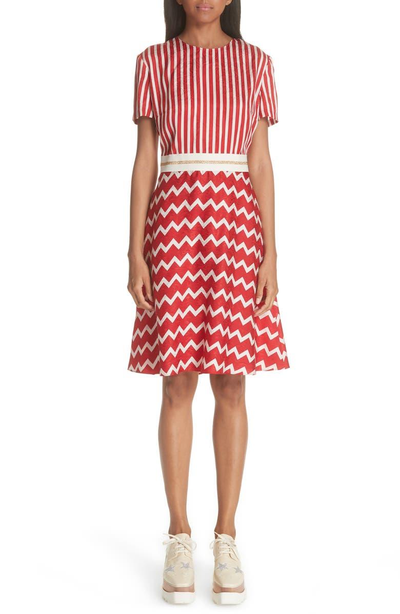 Zigzag Stripe Silk Dress