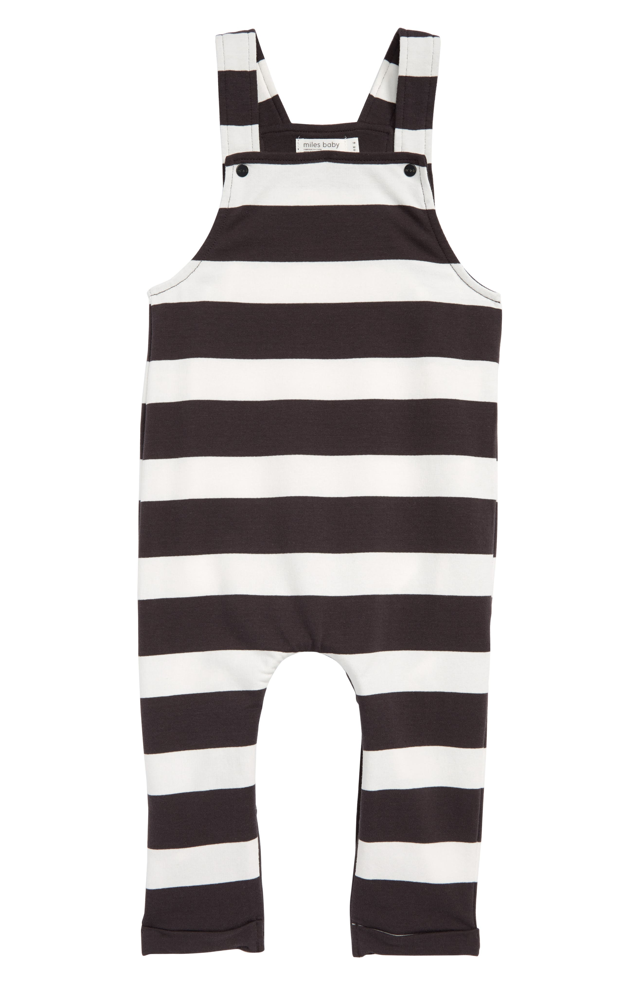 Stripe Romper,                         Main,                         color, Dark Grey