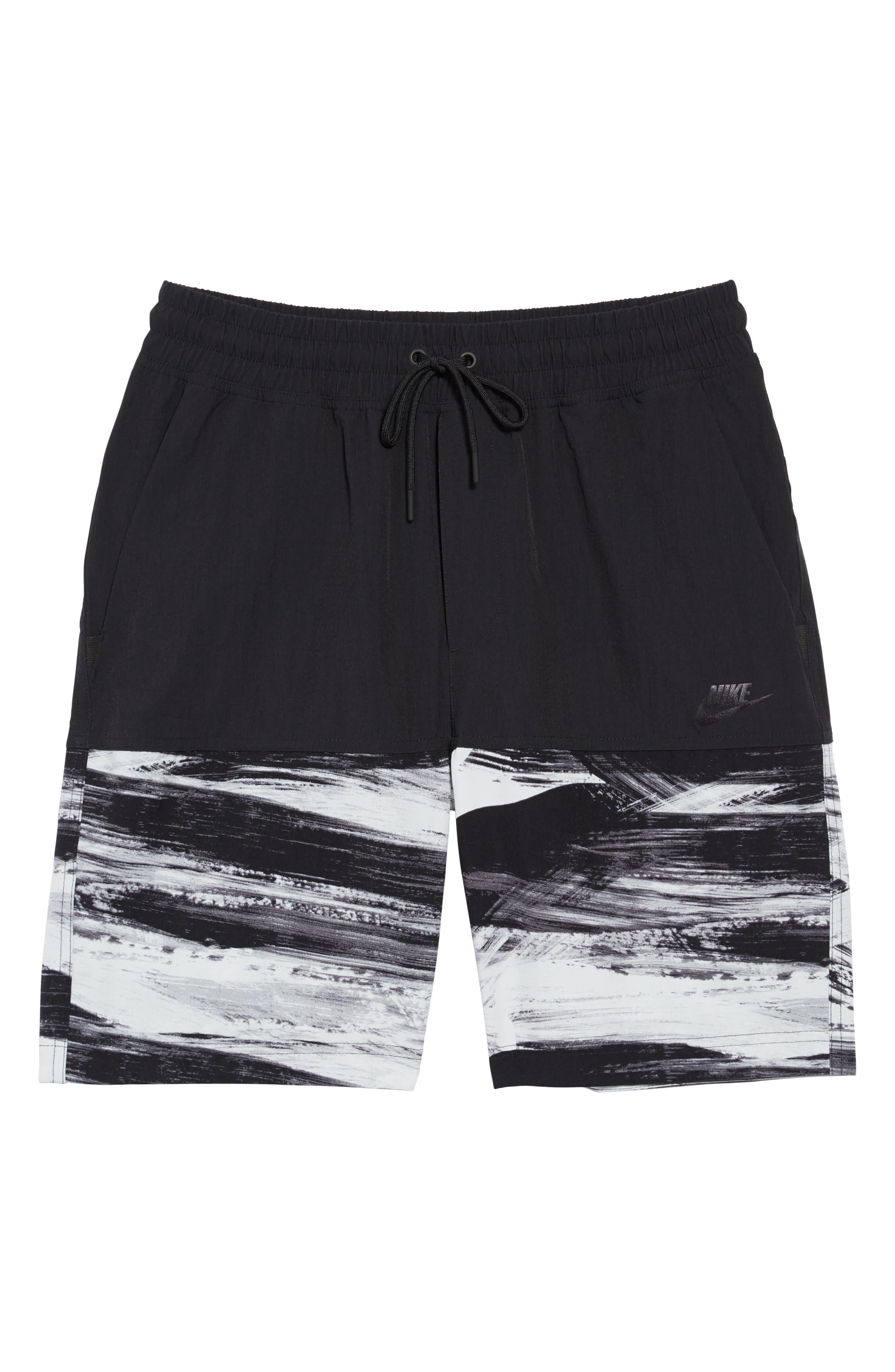 NSW Franchise GX1 Shorts,                             Alternate thumbnail 6, color,                             Black/ Black
