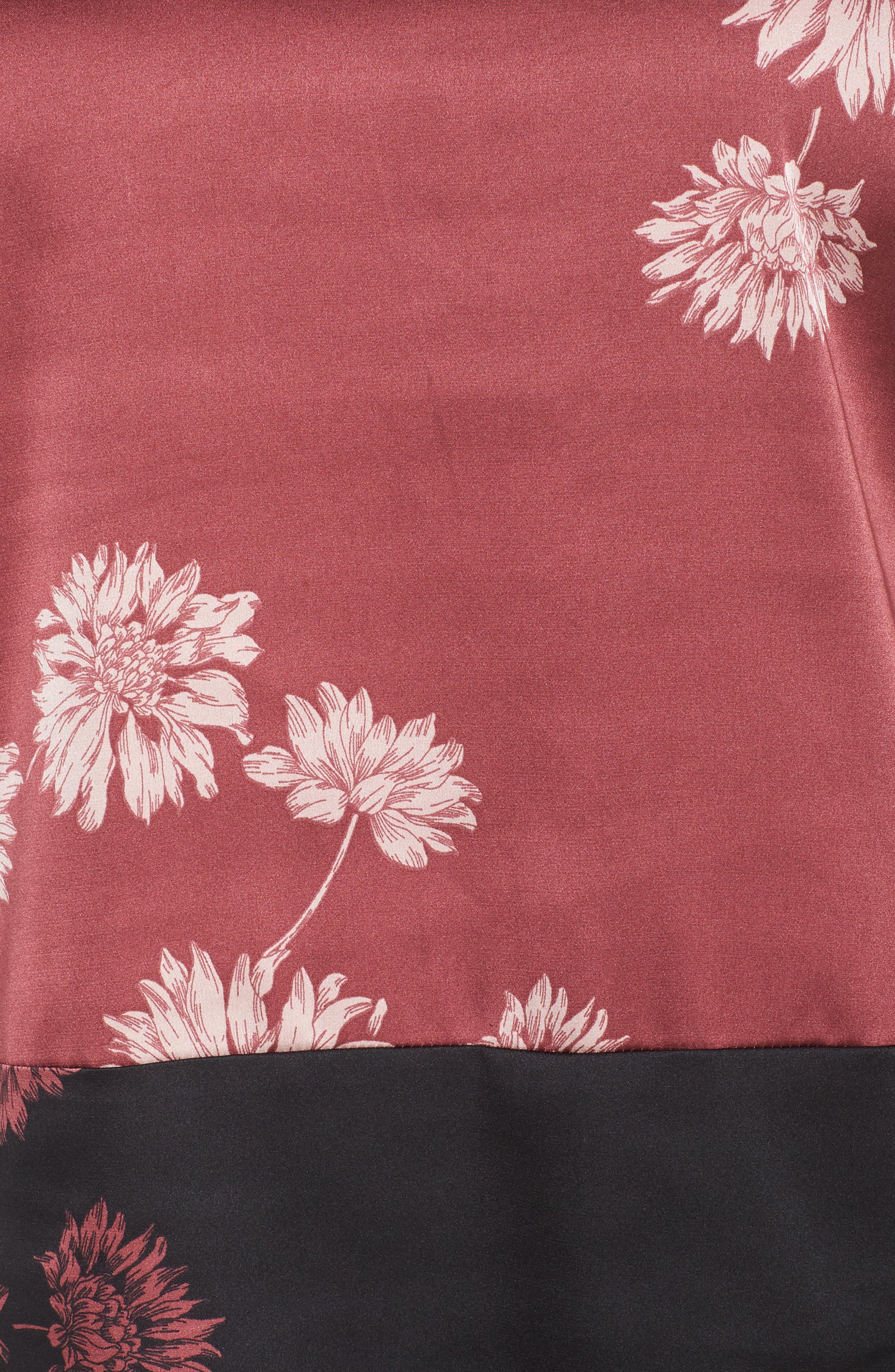 Chateau Floral Print Top,                             Alternate thumbnail 5, color,                             Summer Rose