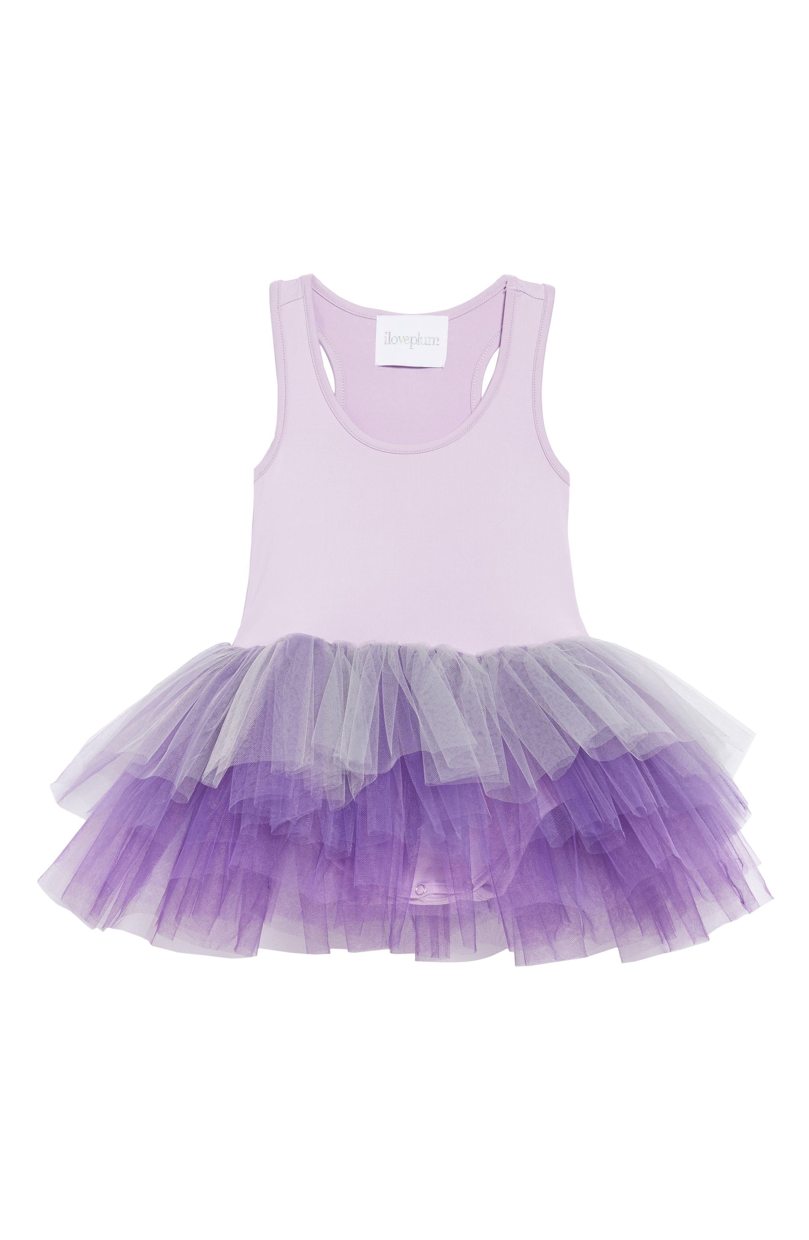 Tutu Dress,                         Main,                         color, Ombre Purple