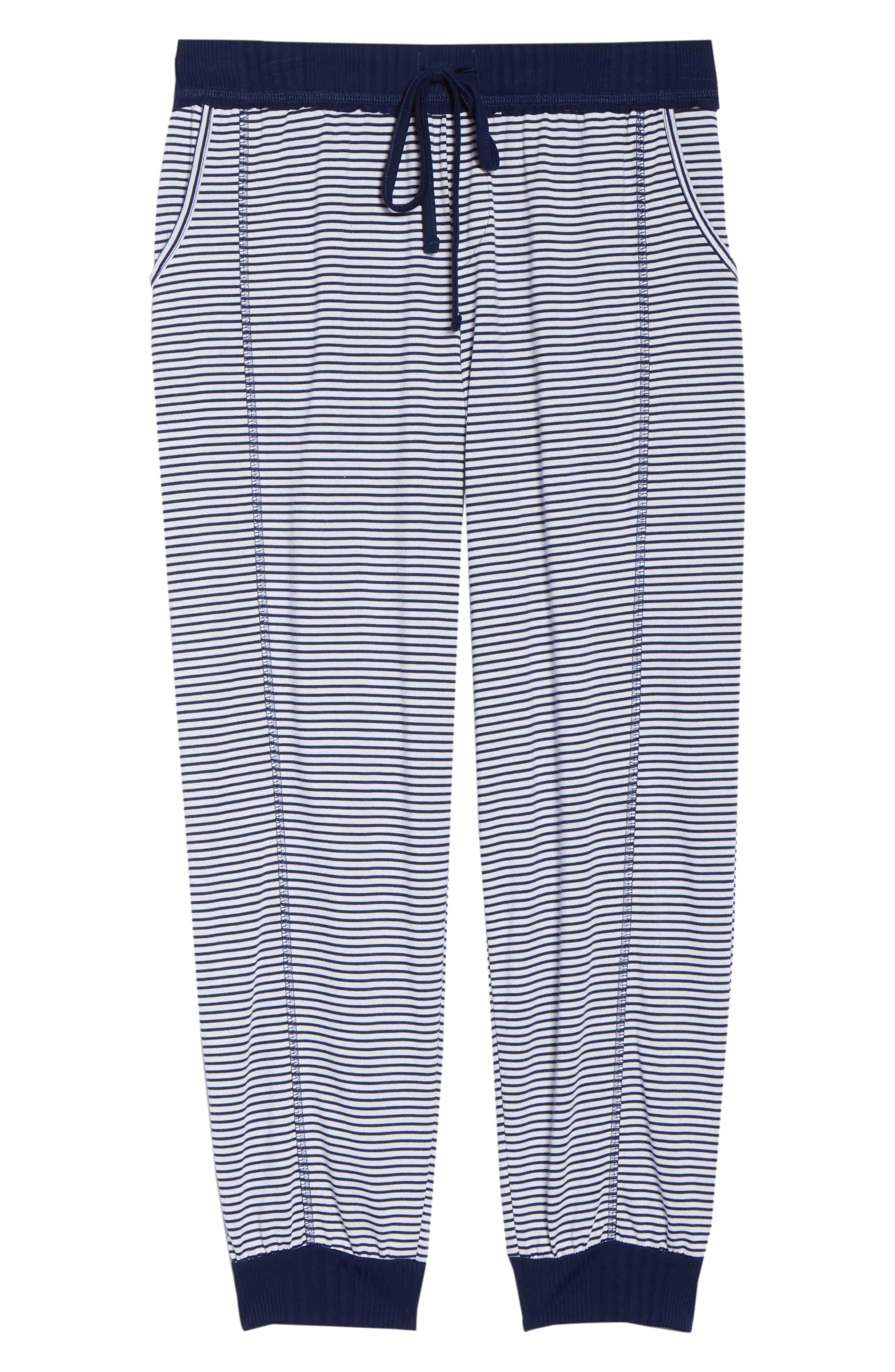 Crop Pajama Pants,                             Alternate thumbnail 7, color,                             Lakeside Stripe