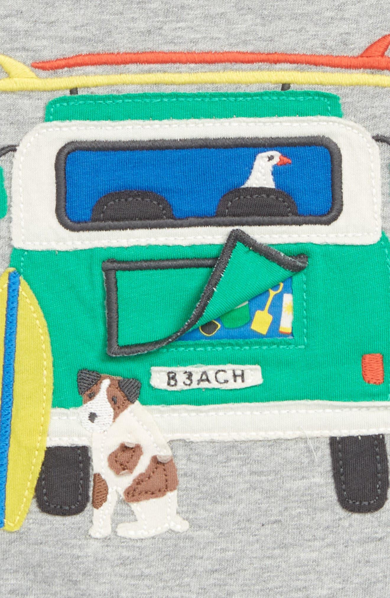 Peekaboo T-Shirt,                             Alternate thumbnail 2, color,                             Grey Marl