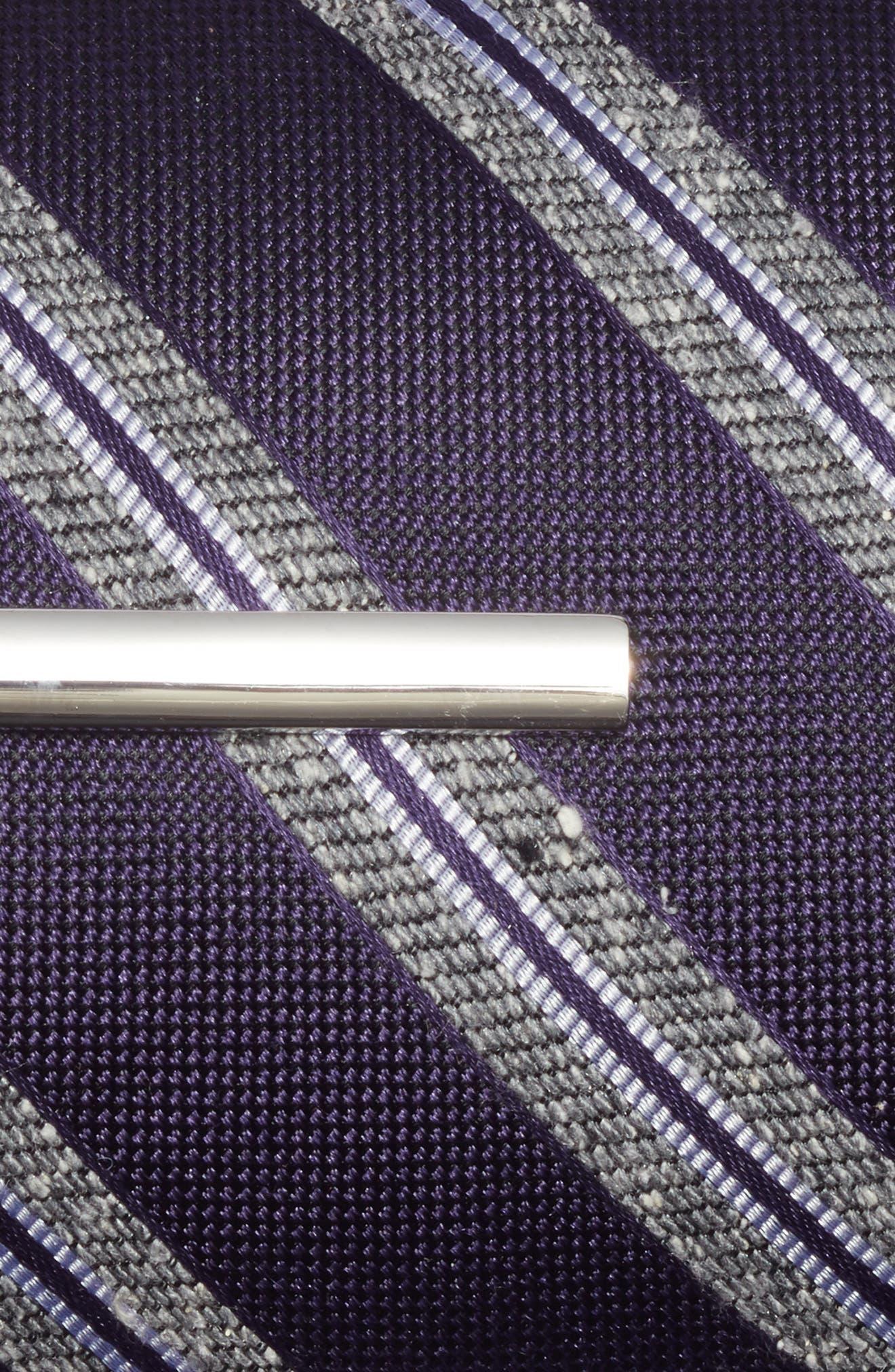 Edison Stripe 3-Piece Skinny Tie Style Box,                             Alternate thumbnail 3, color,                             Eggplant