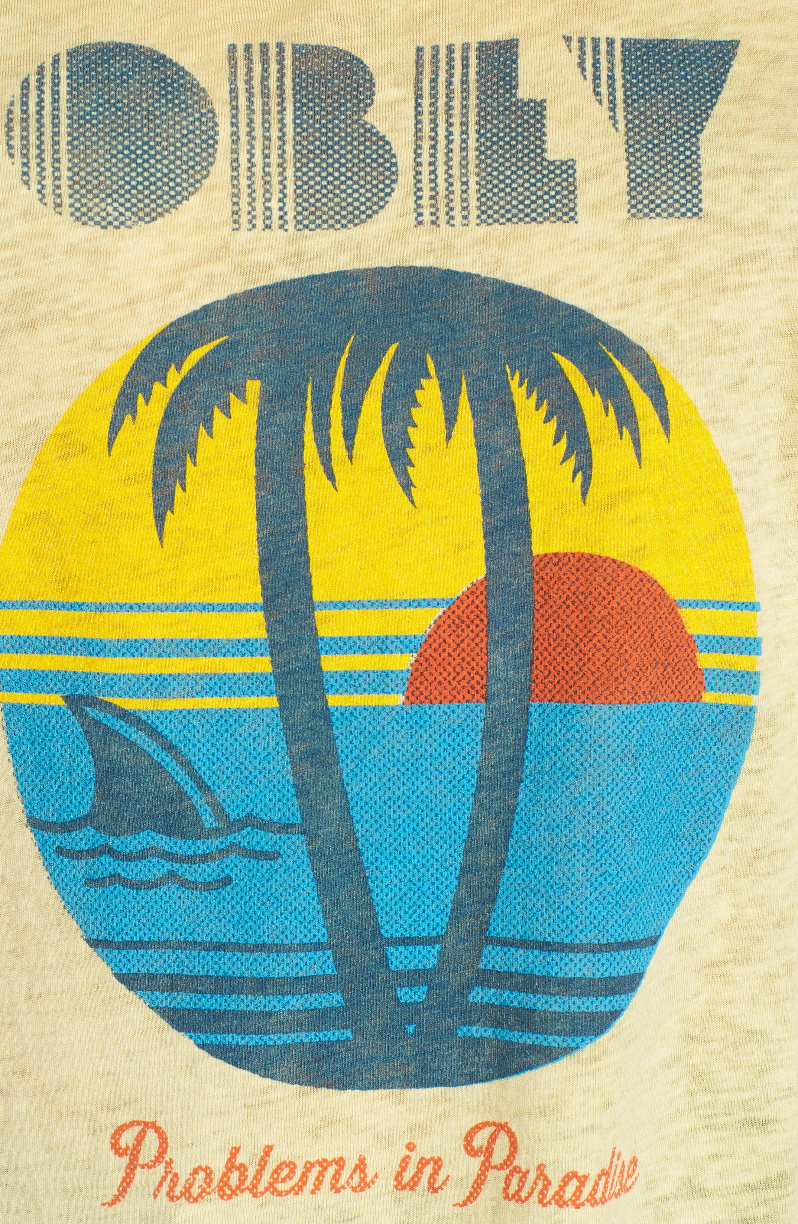 Problems in Paradise Graphic Tank,                             Alternate thumbnail 4, color,                             Yellow