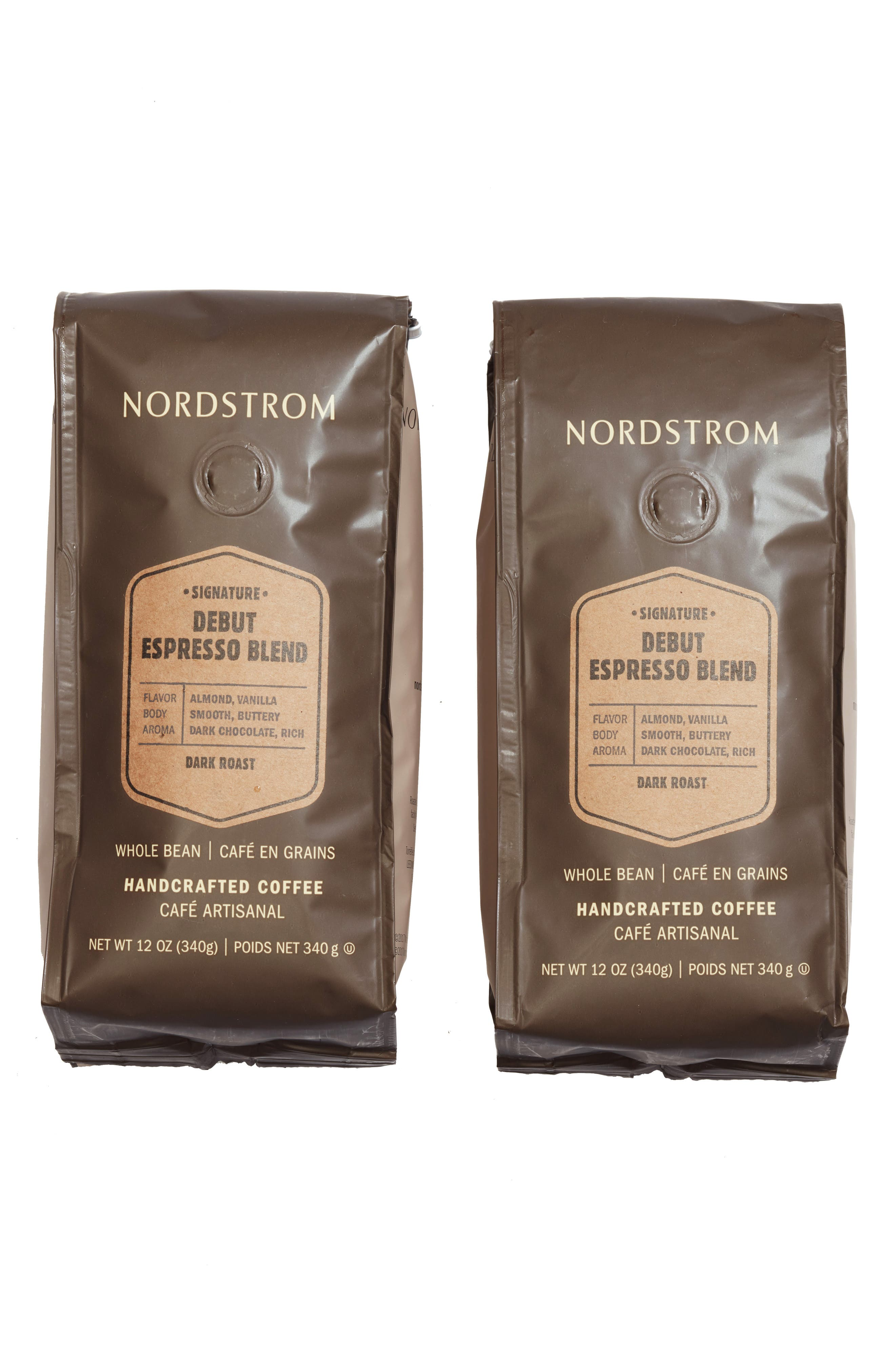 Coffee 'Debut Espresso Blend' Whole Bean Coffee,                         Main,                         color, Beige/ Khaki
