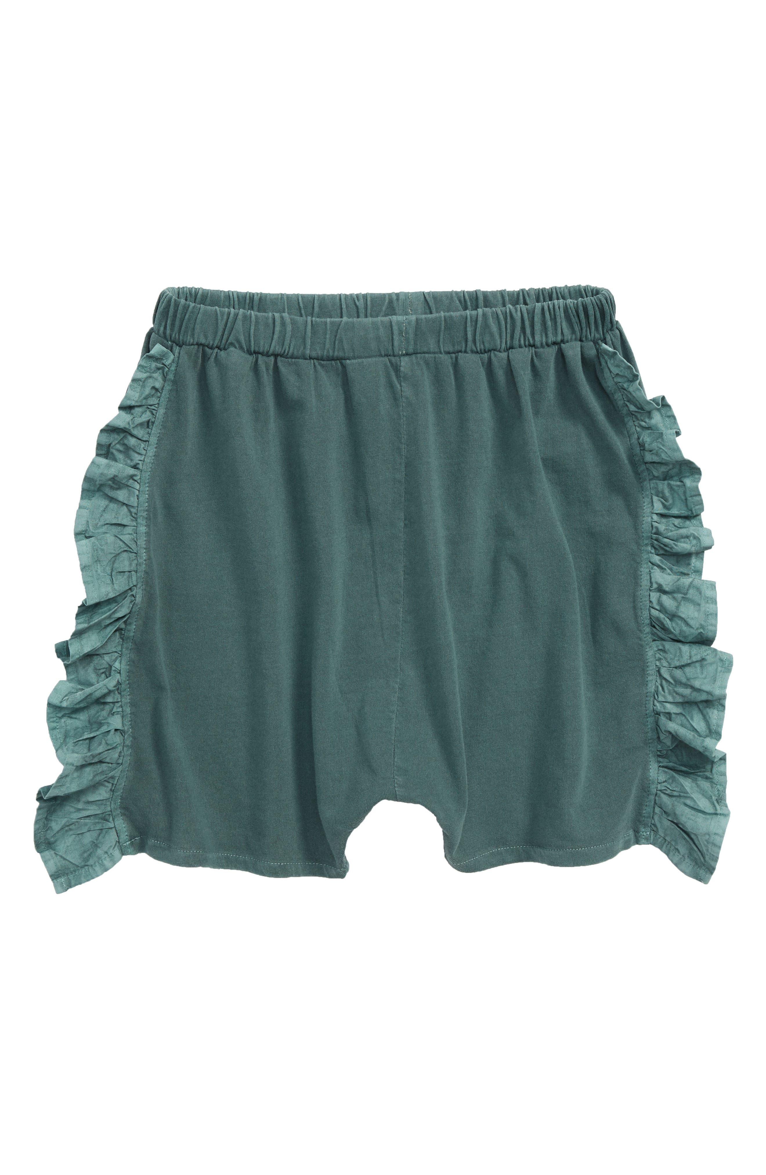 Ruffle Knit Short,                             Main thumbnail 1, color,                             Green Agave