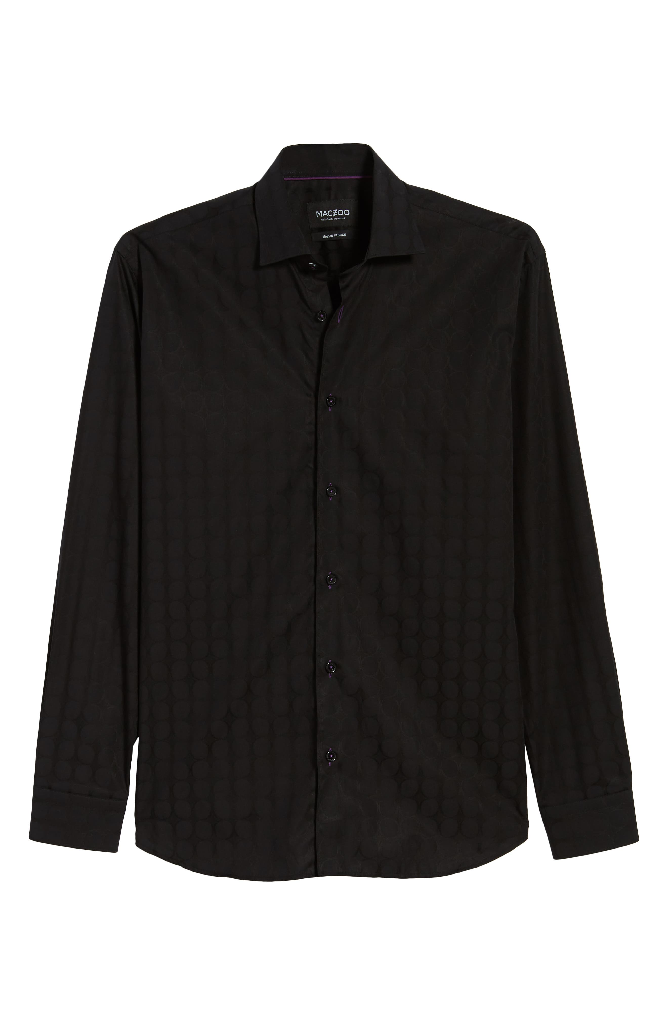 Luxor Bond Sport Shirt,                             Alternate thumbnail 5, color,                             Black
