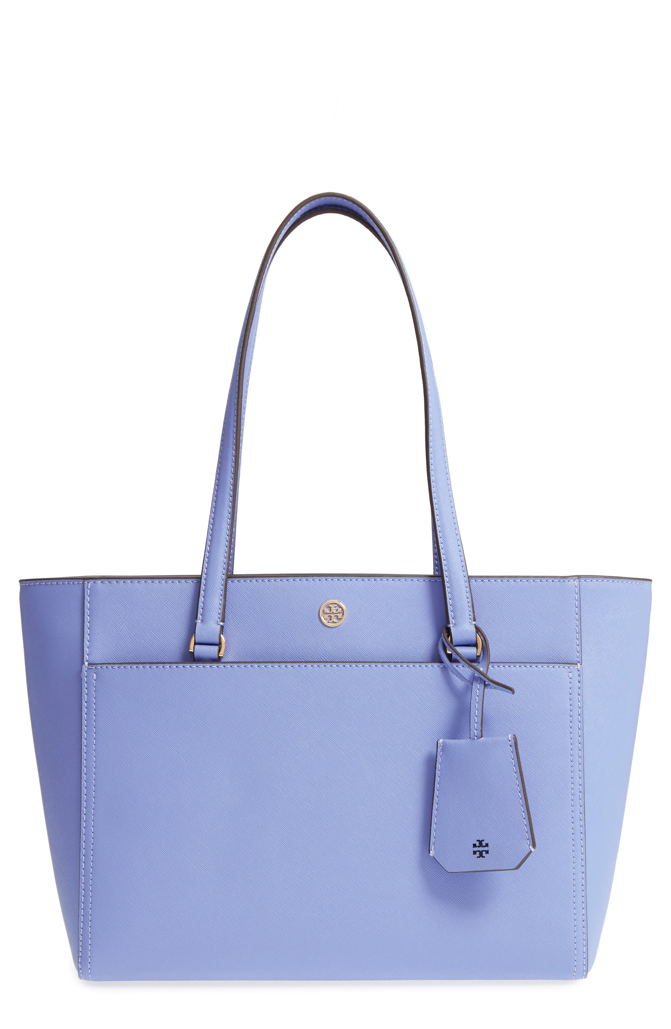 Small Robinson Leather Tote,                         Main,                         color, Bow Blue