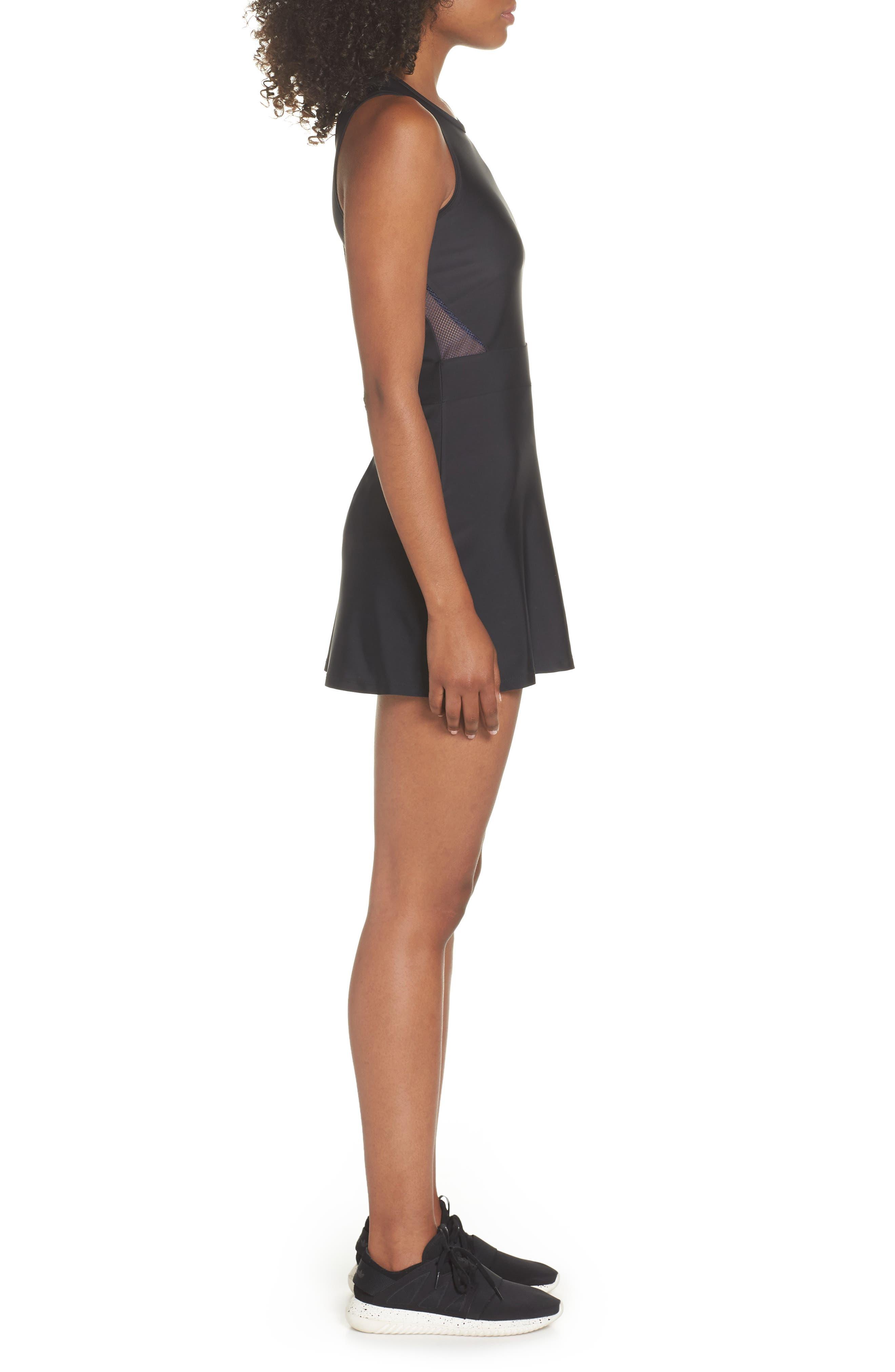 BoomBoom Athletica Tennis Dress,                             Alternate thumbnail 3, color,                             Black/ Navy