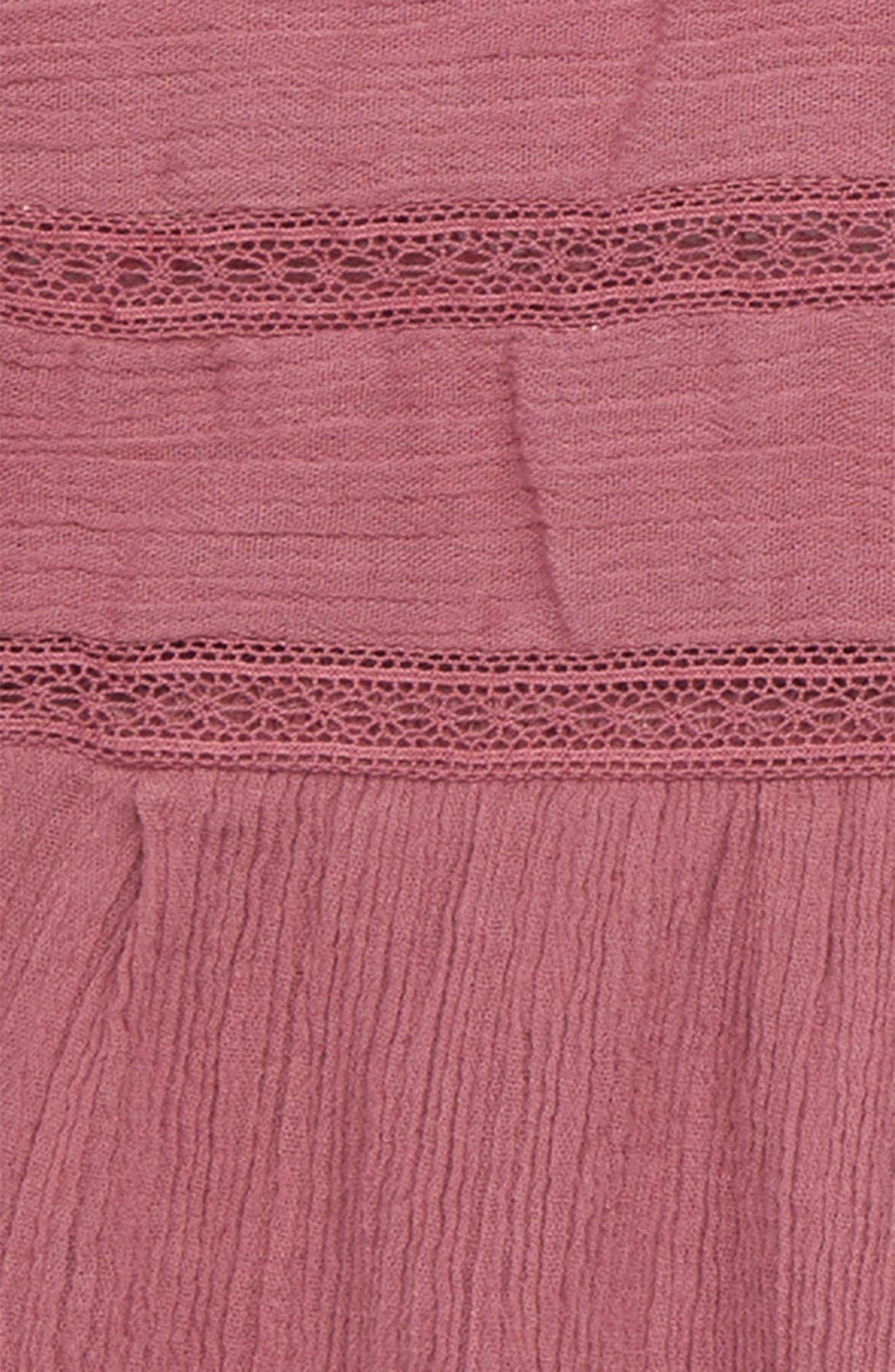 Kensie Crinkle Dress,                             Alternate thumbnail 2, color,                             Mauve