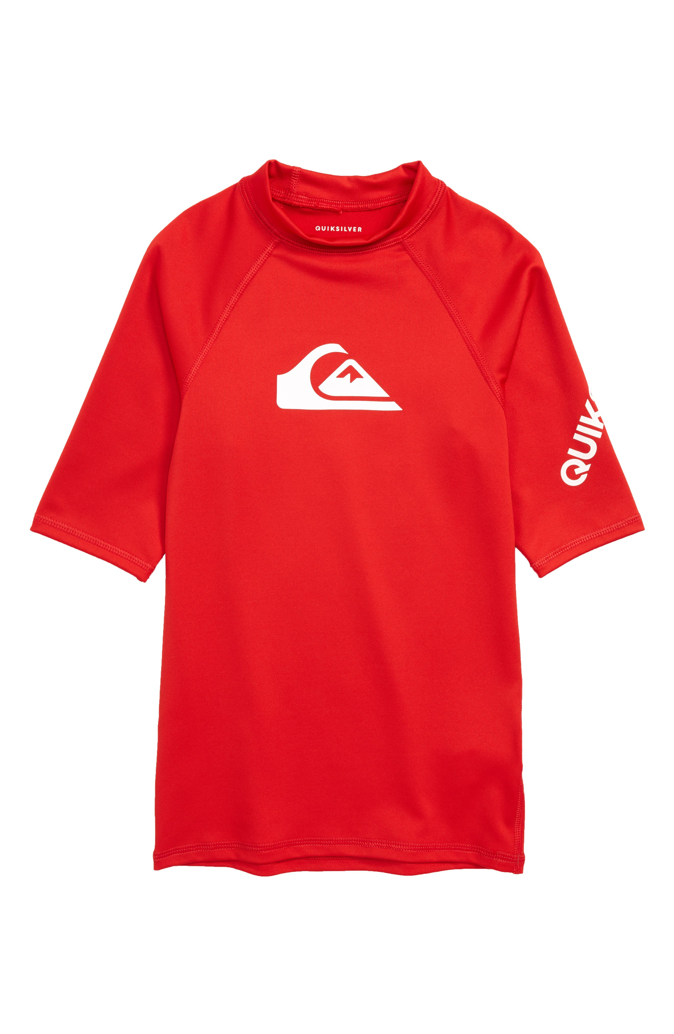 All Time Rashguard Top,                         Main,                         color, Quik Red