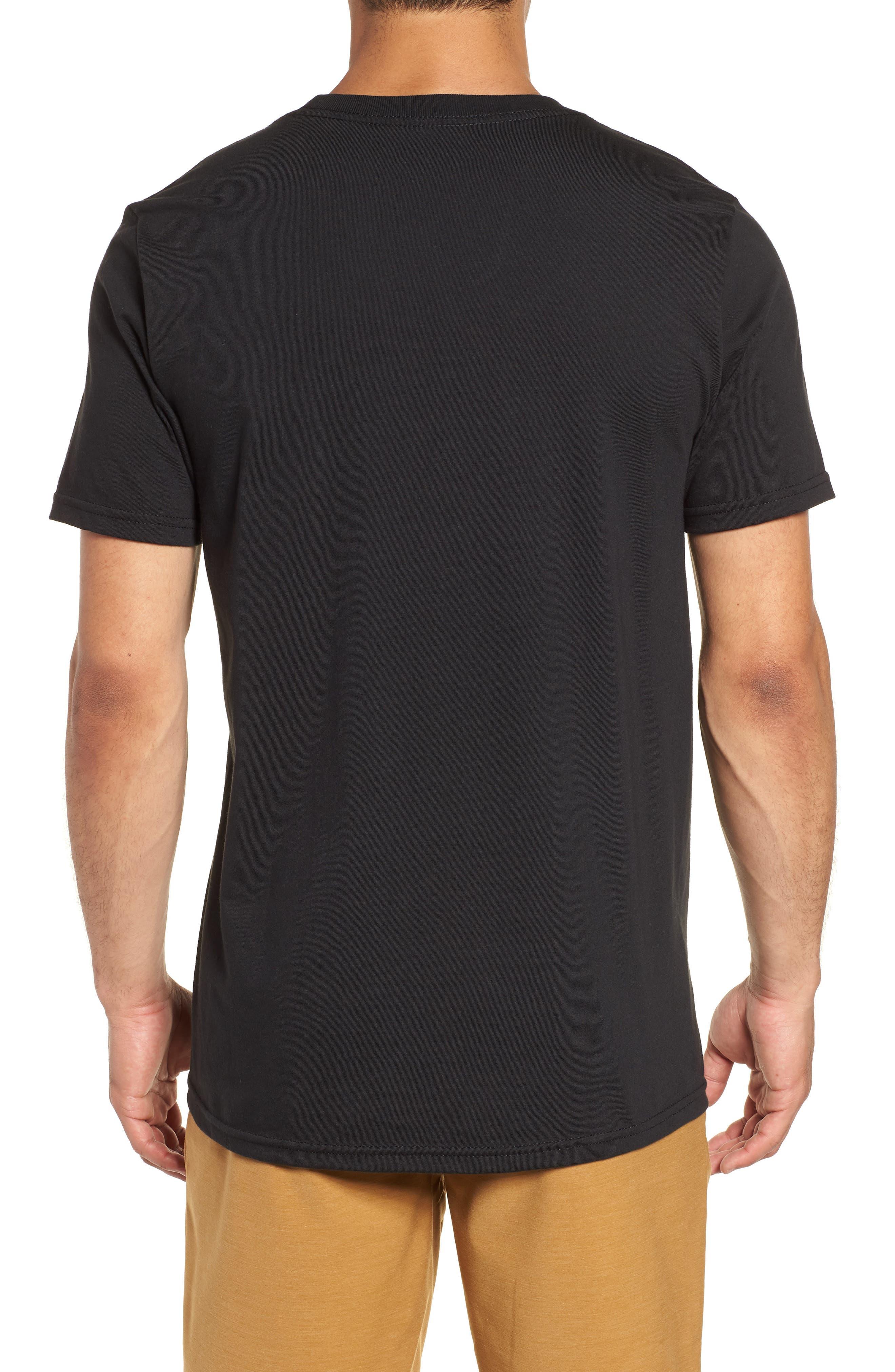 Threaded Classic T-Shirt,                             Alternate thumbnail 2, color,                             Black
