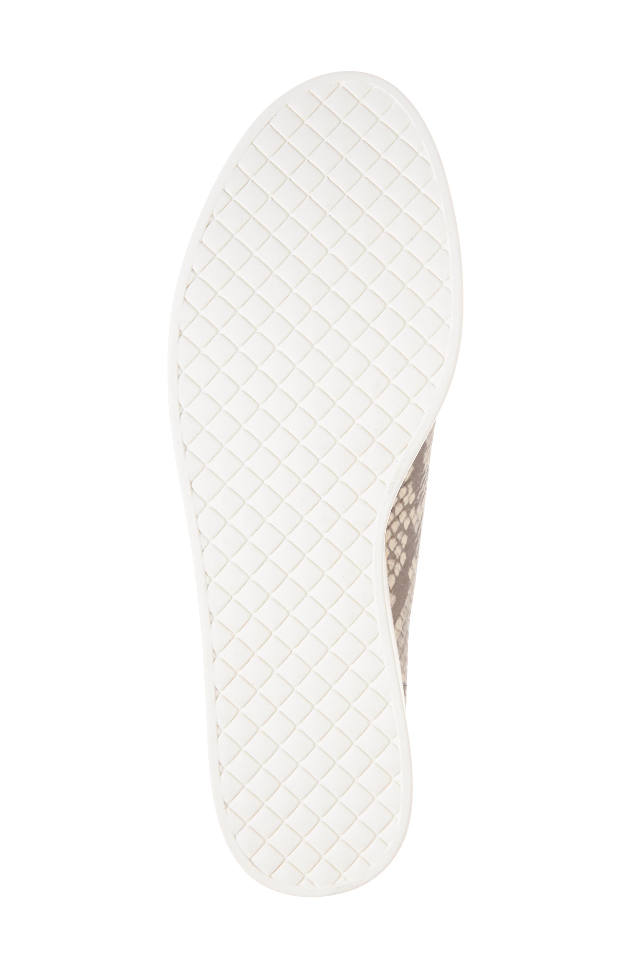 Kimber Wedge Platform Sneaker,                             Alternate thumbnail 6, color,                             Natural Snake Print