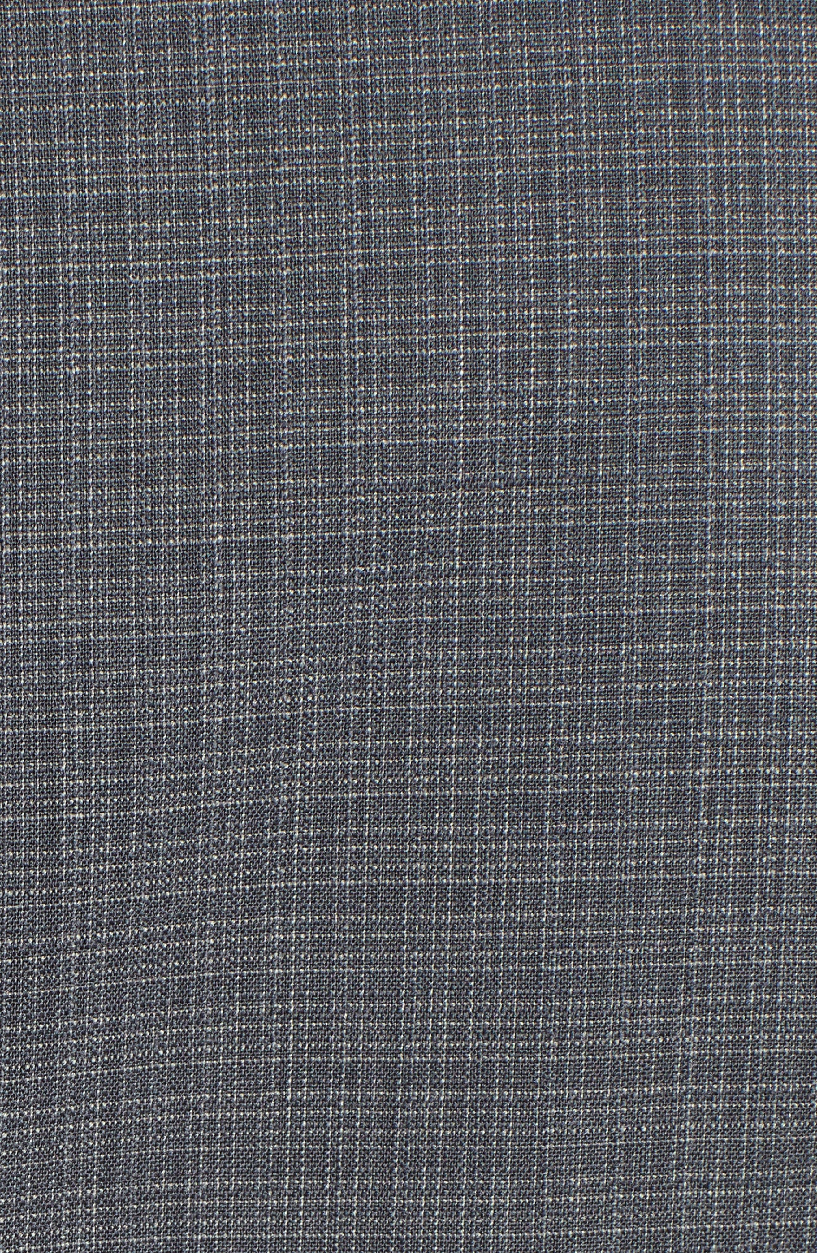 Classic Fit Stretch Plaid Wool Suit,                             Alternate thumbnail 7, color,                             Grey Plaid