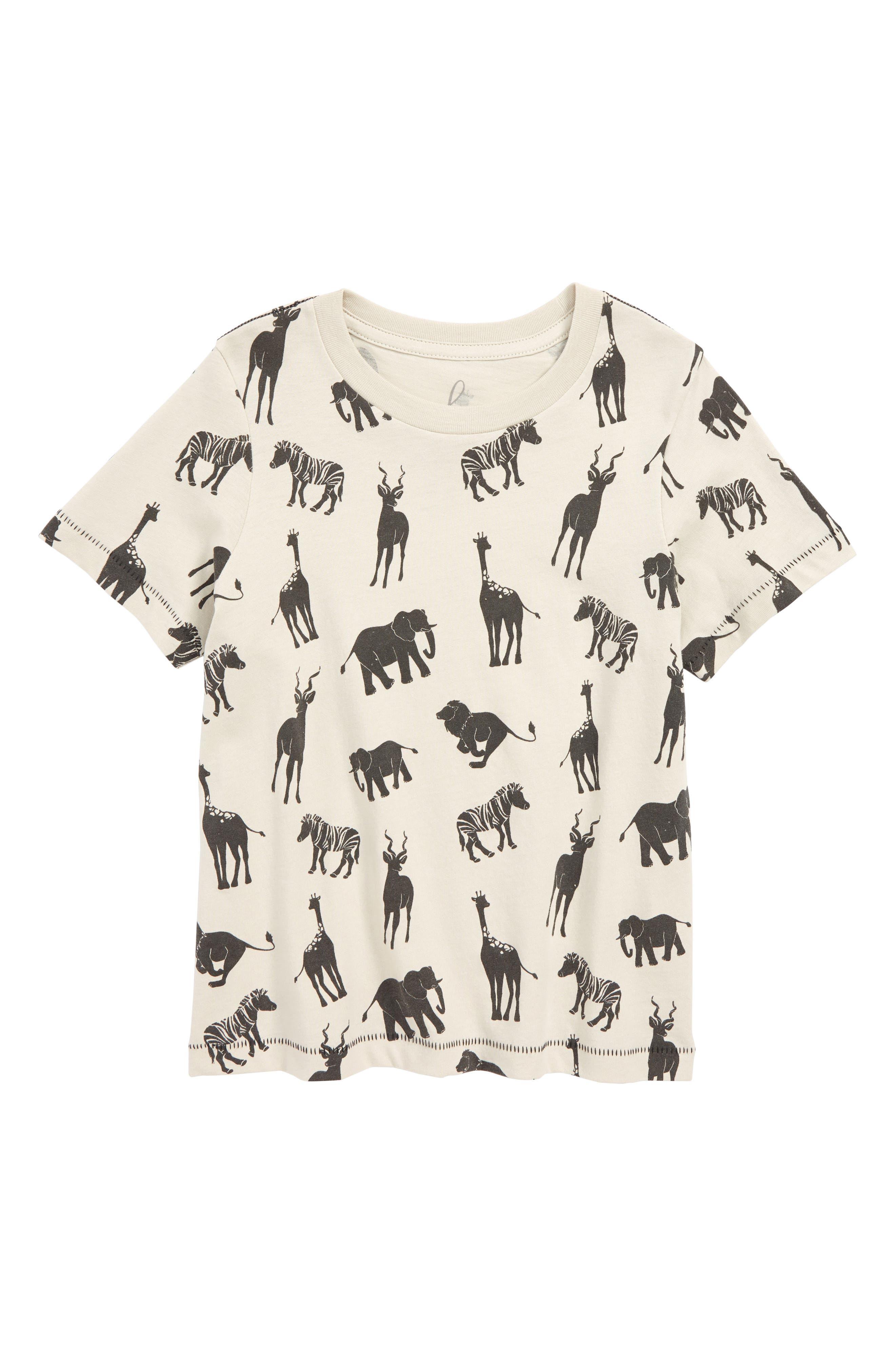 Animal Print T-Shirt,                         Main,                         color, Khaki