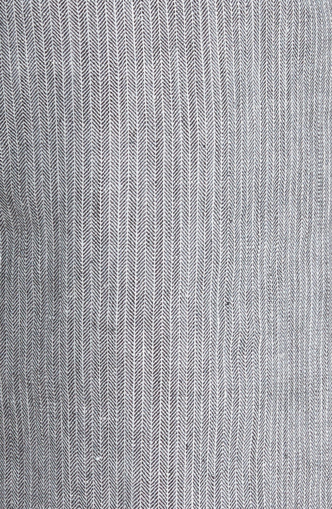 Harbor Herringbone Linen Blend Shorts,                             Alternate thumbnail 5, color,                             Black