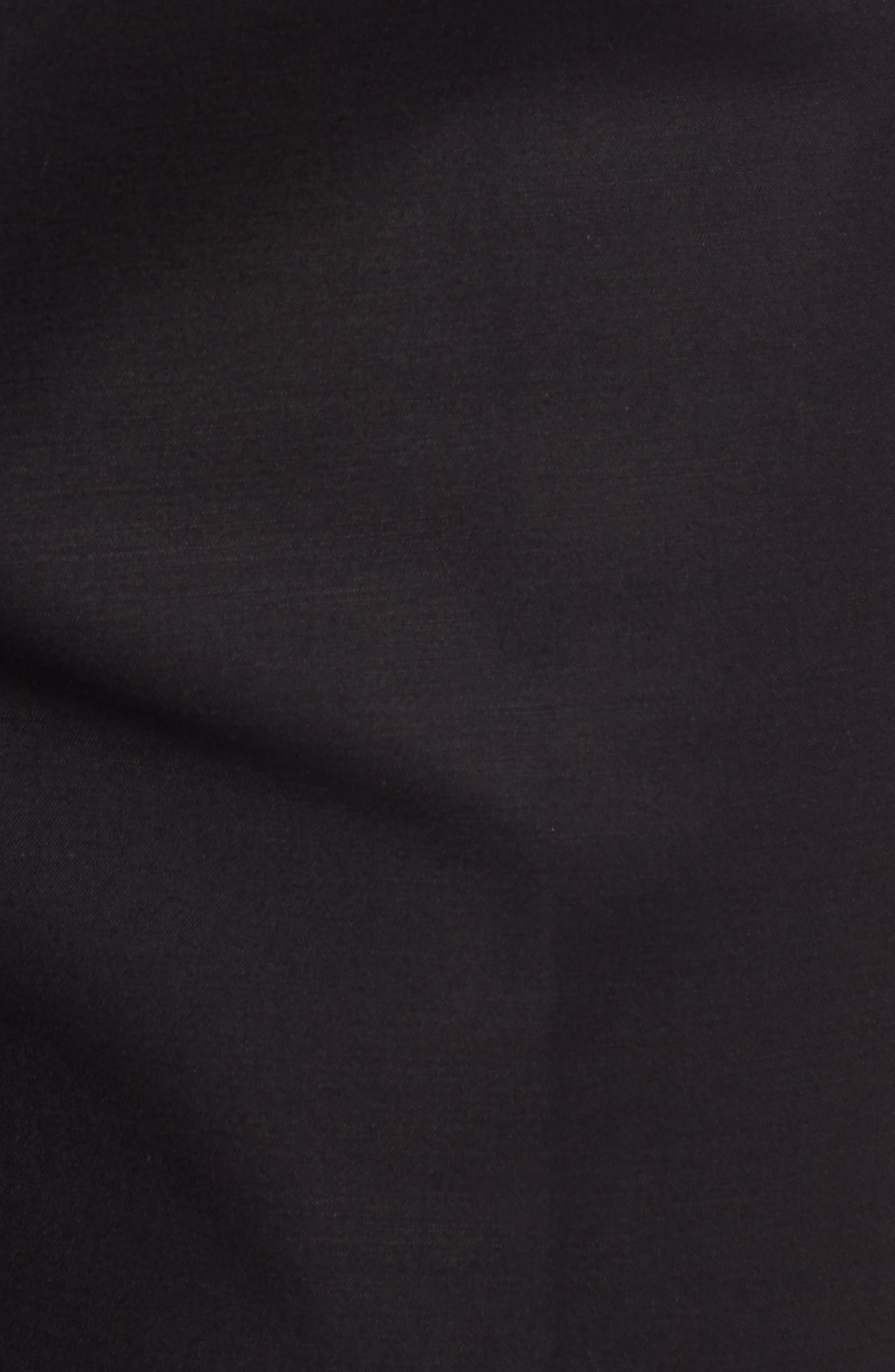 Perfect Side Zip Crop Pants,                             Alternate thumbnail 5, color,                             Black Onyx