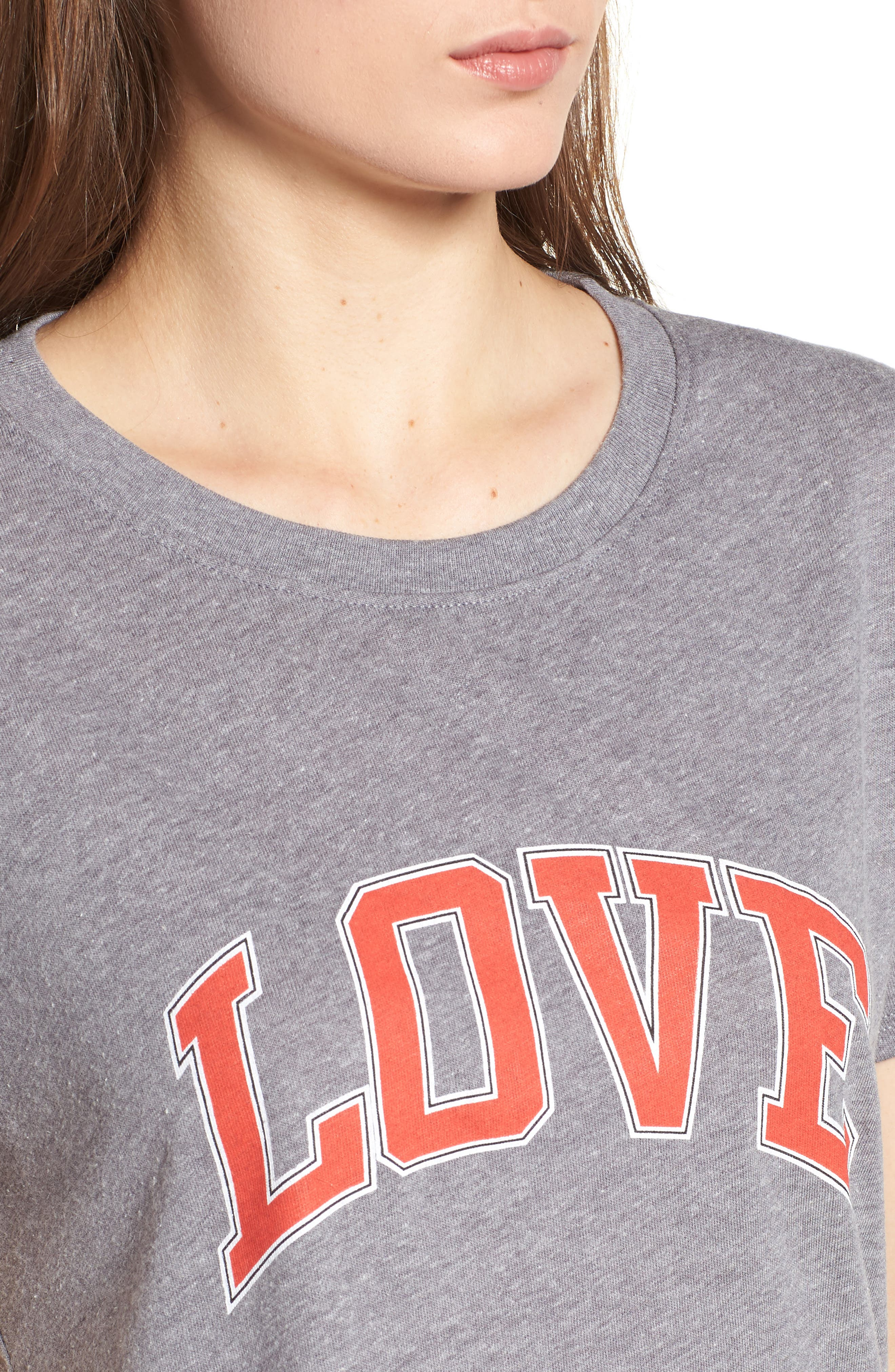 Love Tee,                             Alternate thumbnail 4, color,                             Heather Grey