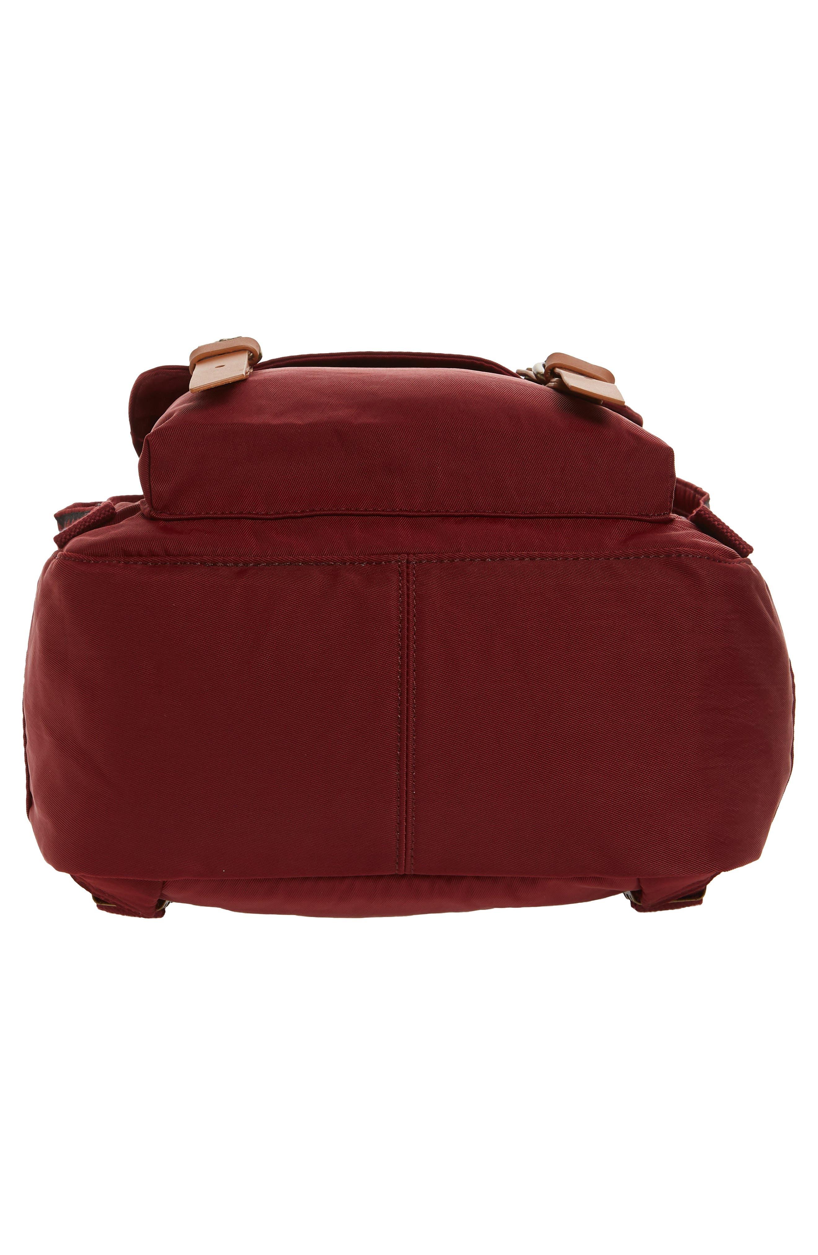 Macaroon Bo-He Water Resistant Backpack,                             Alternate thumbnail 6, color,                             Wine