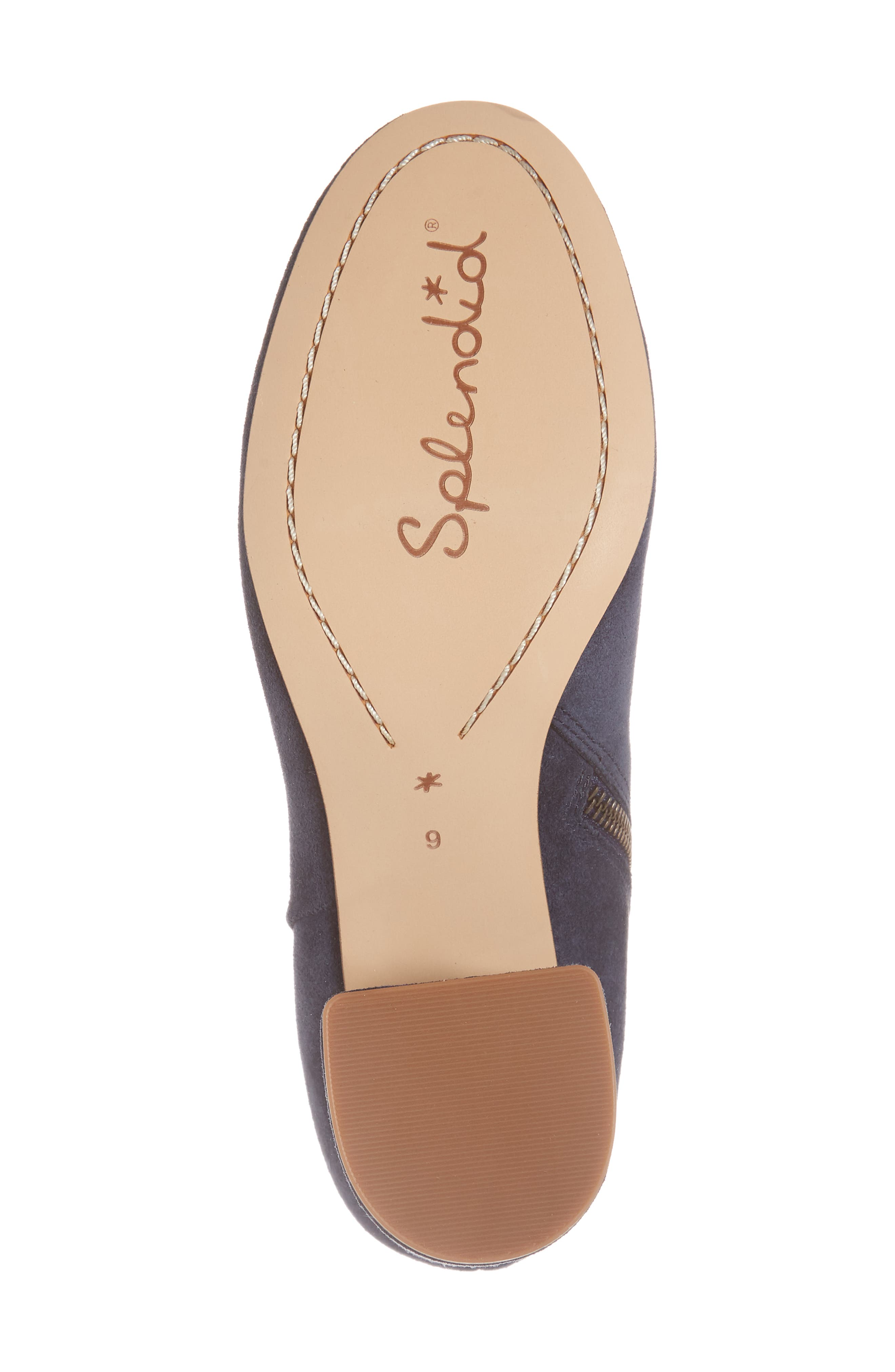 Nixie Bootie,                             Alternate thumbnail 6, color,                             Navy Suede