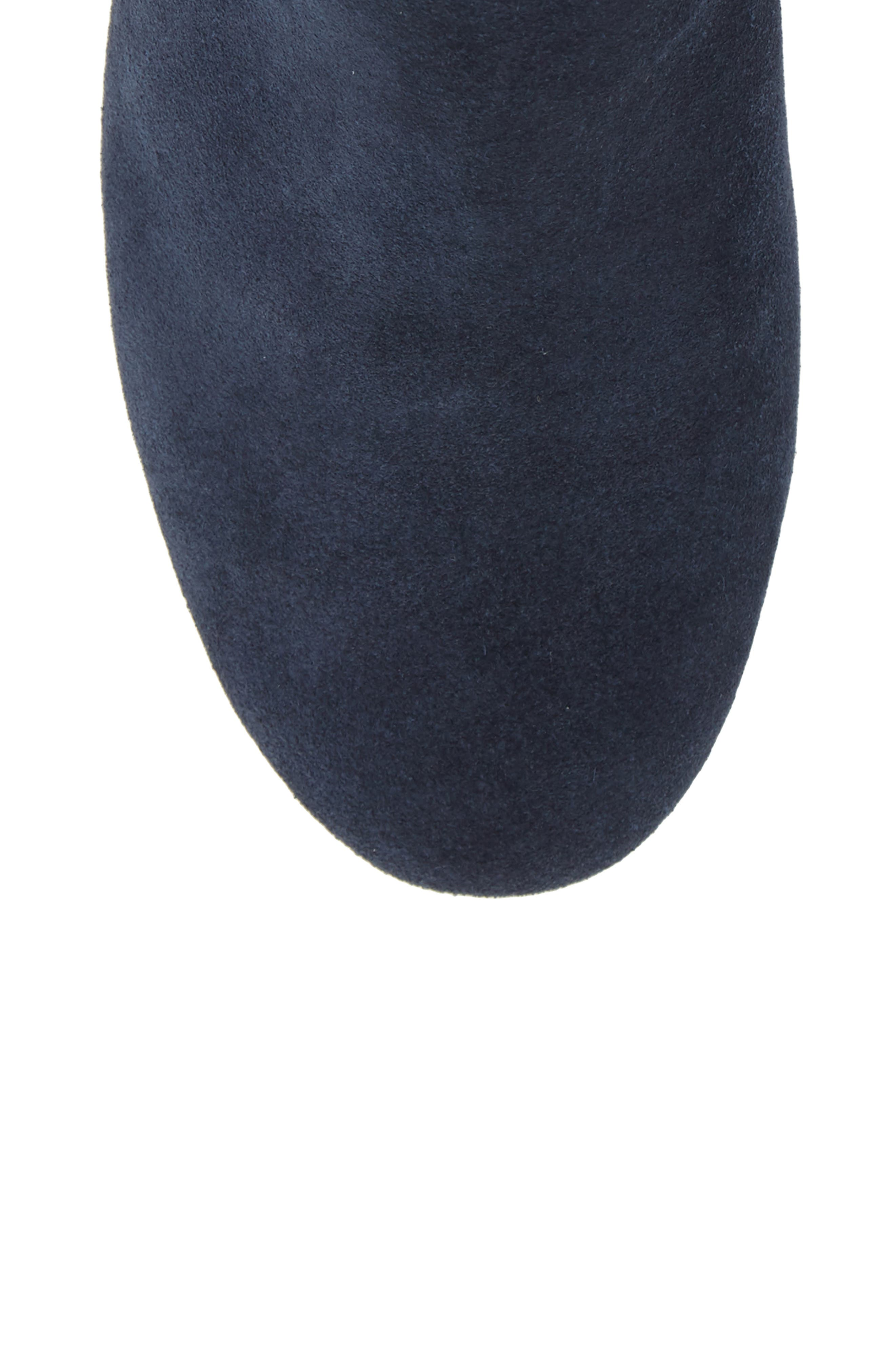 Nixie Bootie,                             Alternate thumbnail 5, color,                             Navy Suede