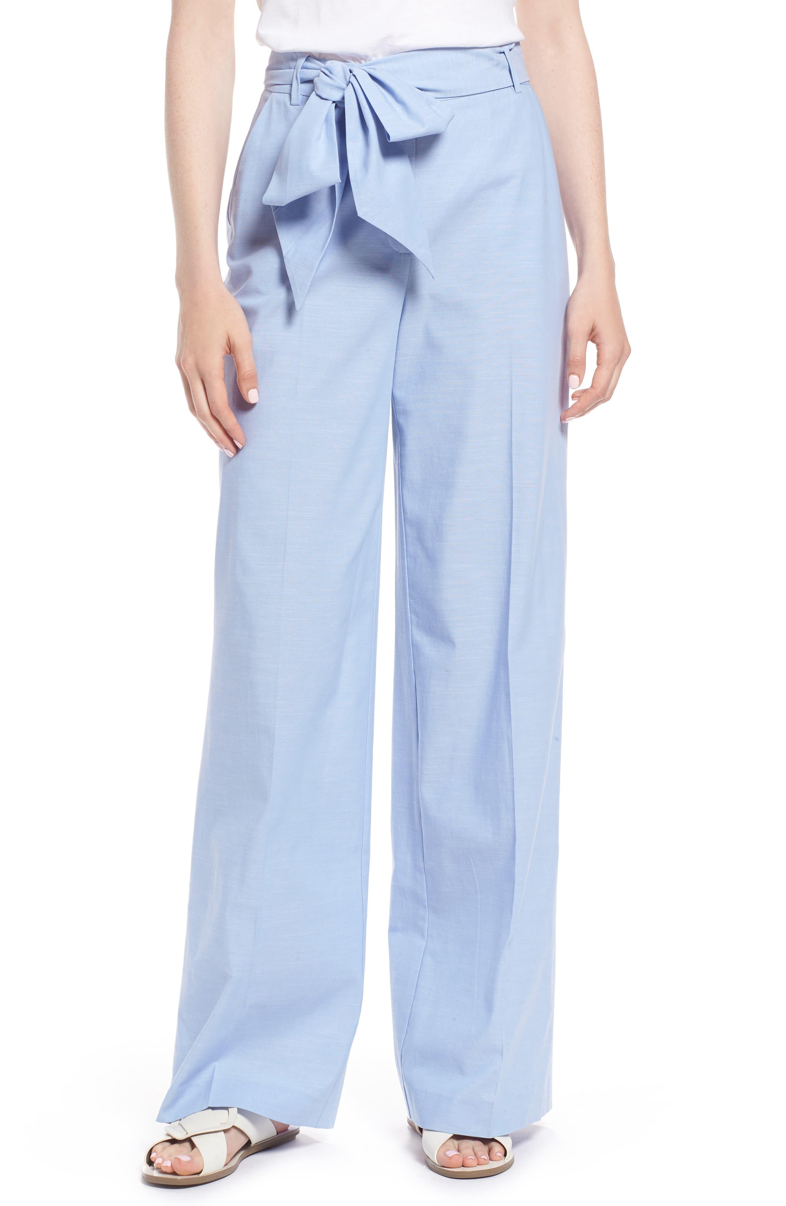 Chambray Wide Leg Pants,                         Main,                         color, Chambray