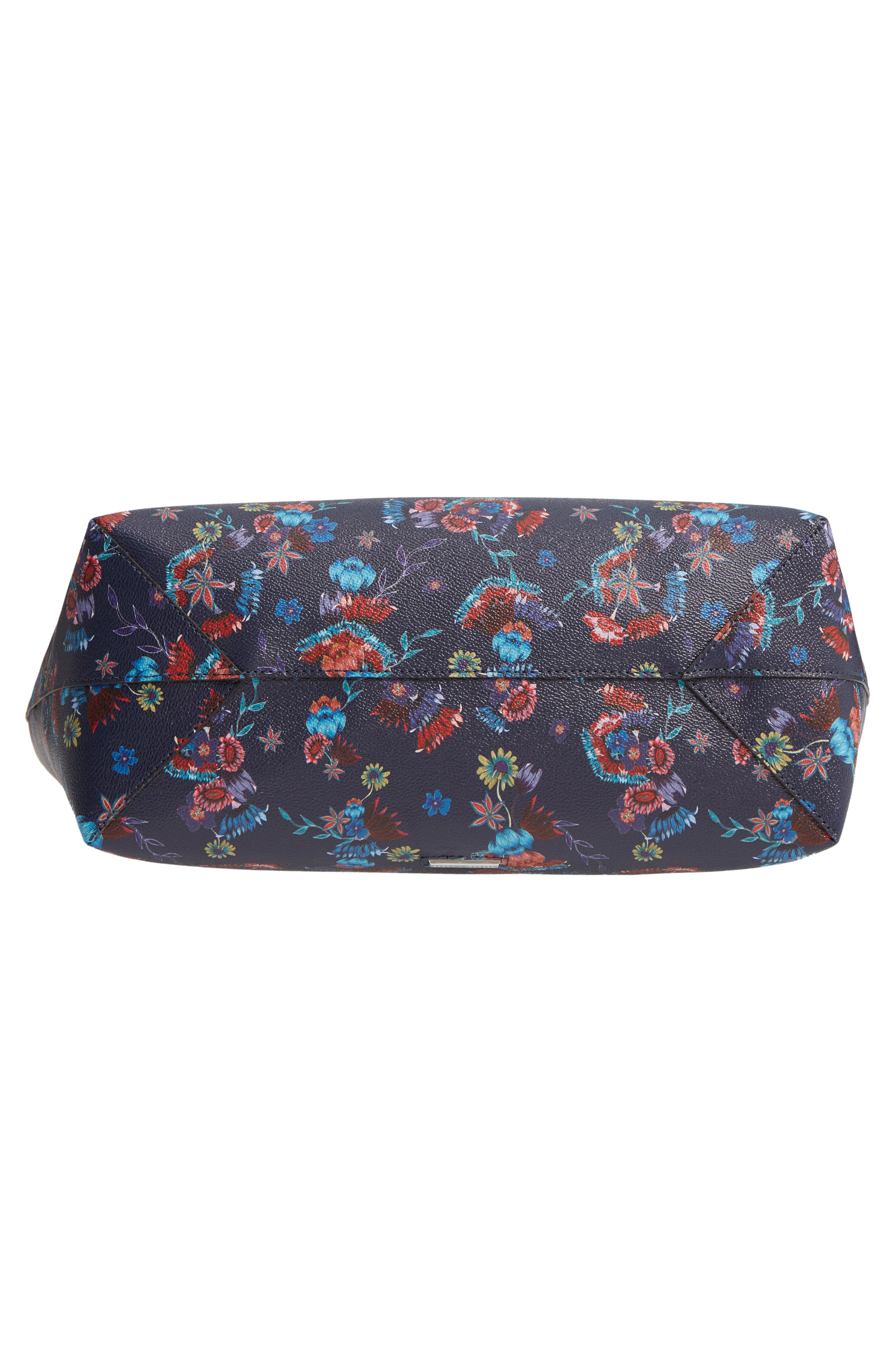 Large Heather Tote,                             Alternate thumbnail 6, color,                             Floral Blue