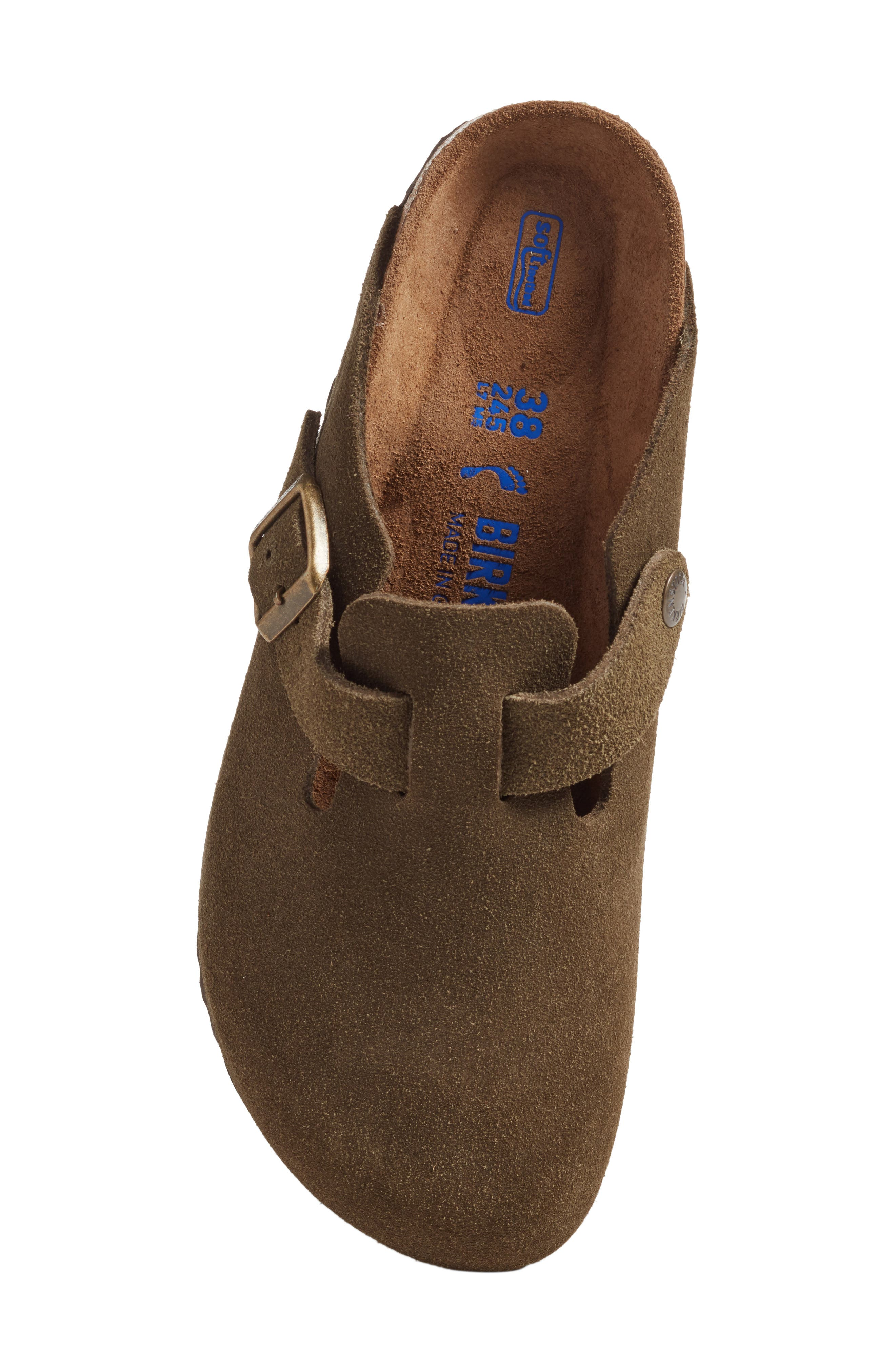 'Boston' Soft Footbed Clog,                             Alternate thumbnail 5, color,                             Forest Suede