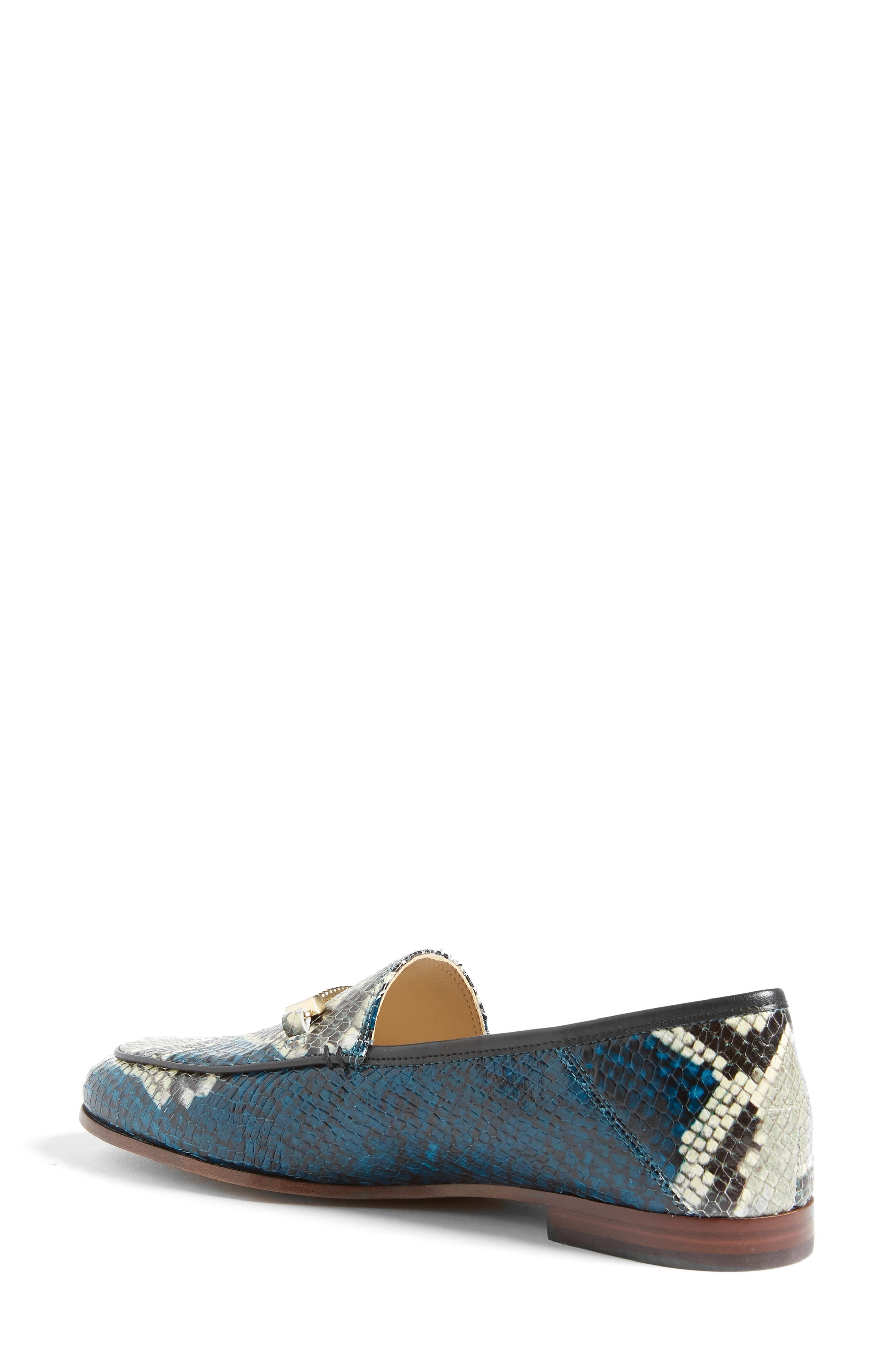 Lior Loafer,                             Alternate thumbnail 2, color,                             Peacock Blue Snake Print
