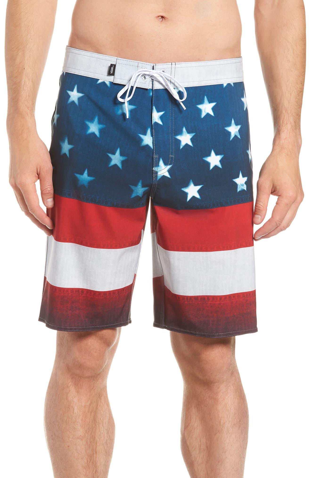 Era Board Shorts,                             Main thumbnail 1, color,                             American Flag
