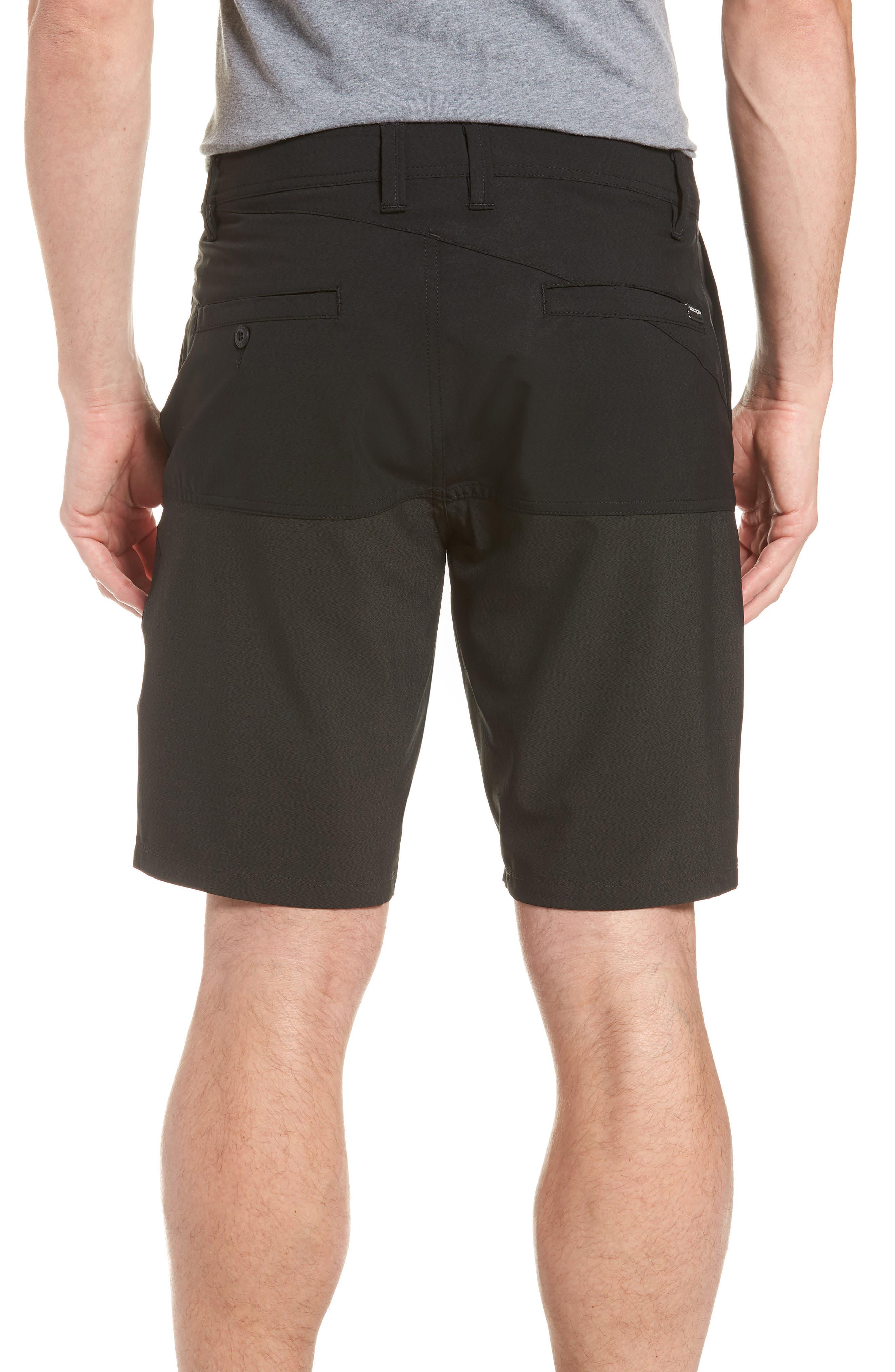 Surf 'n Turf Block Hybrid Shorts,                             Alternate thumbnail 2, color,                             Black