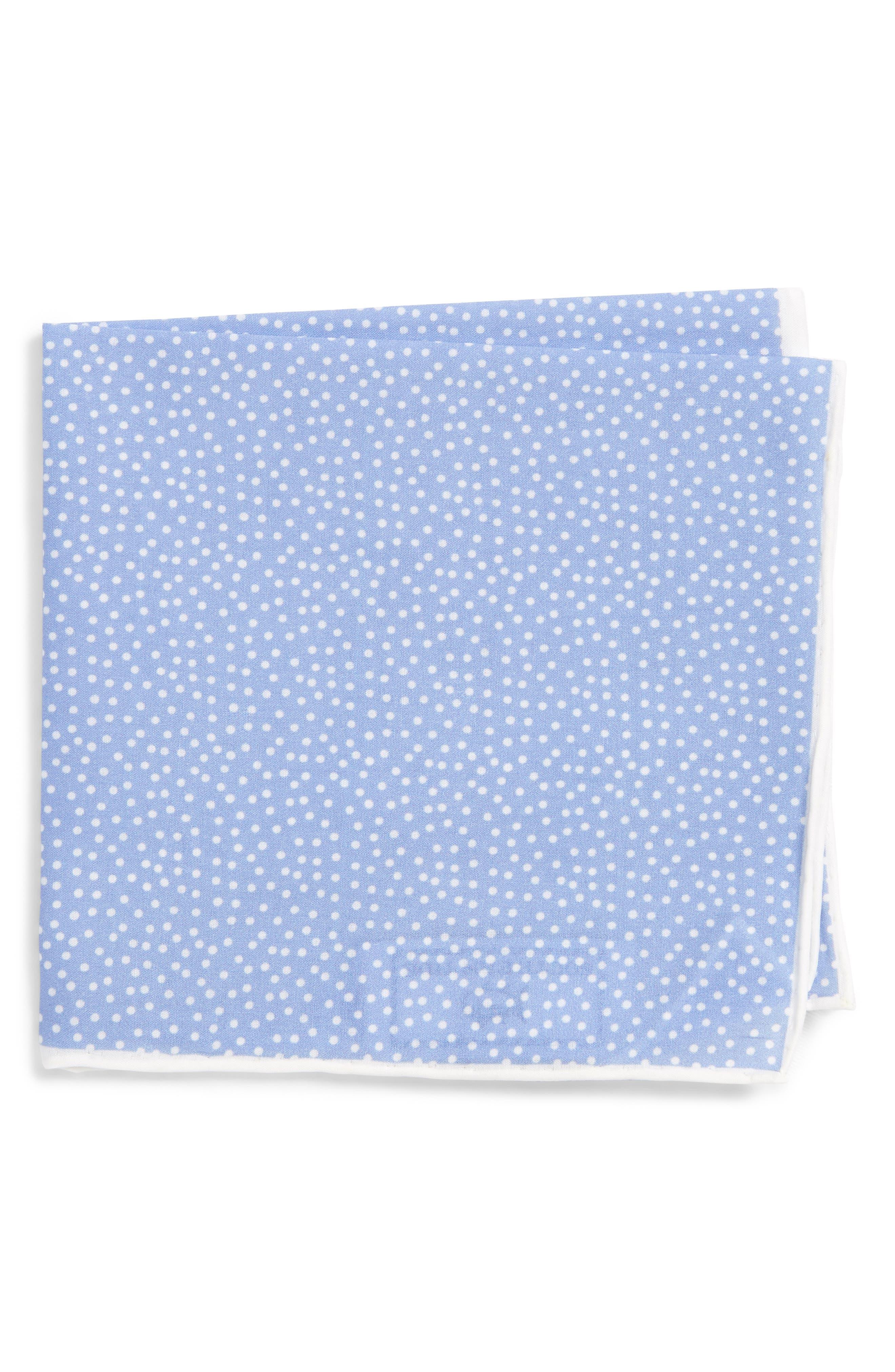 Sagamore Spots Cotton & Silk Pocket Square,                         Main,                         color, Blue