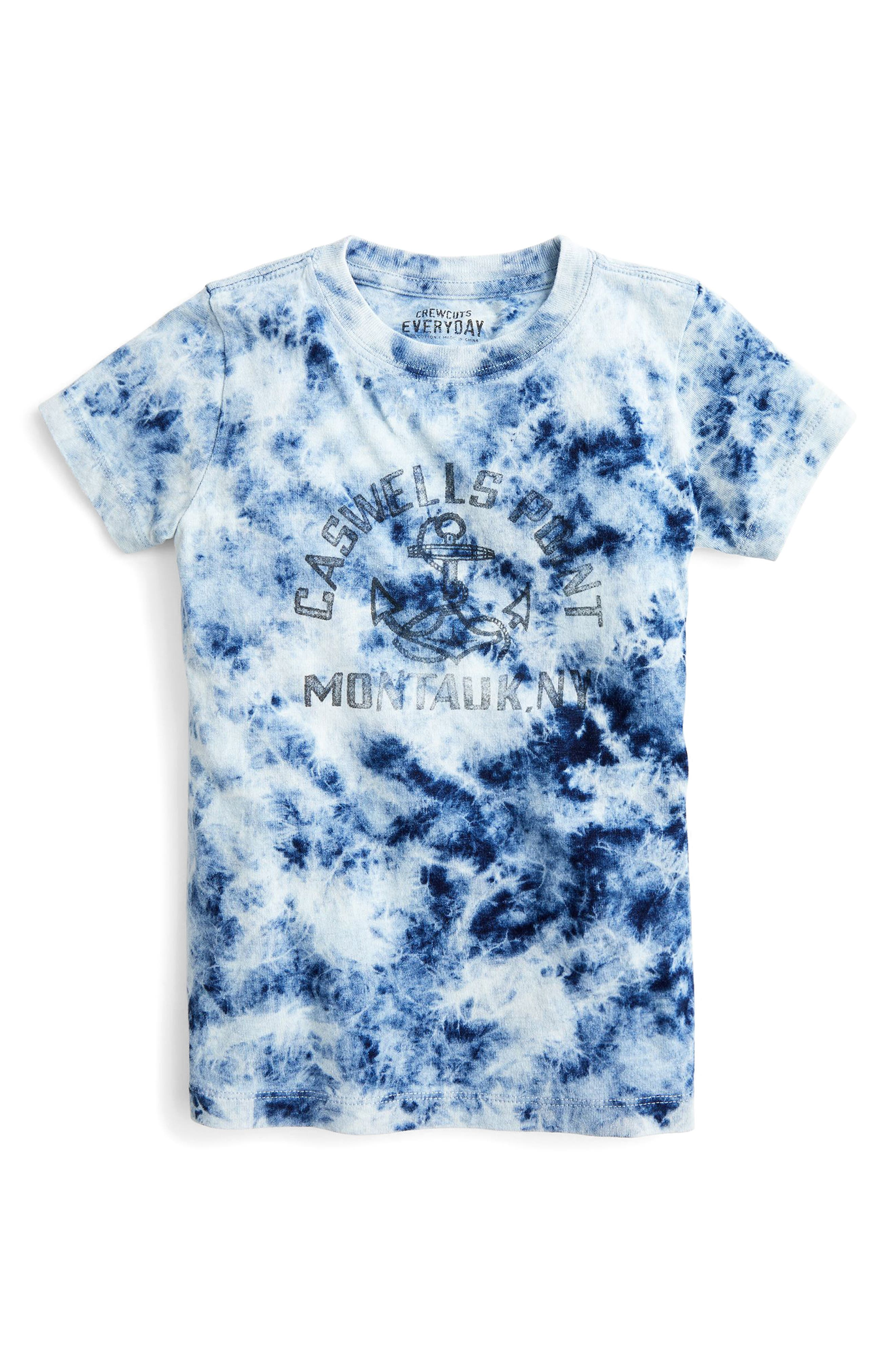 Montauk Tie Dye T-Shirt,                             Main thumbnail 1, color,                             Medium Wash