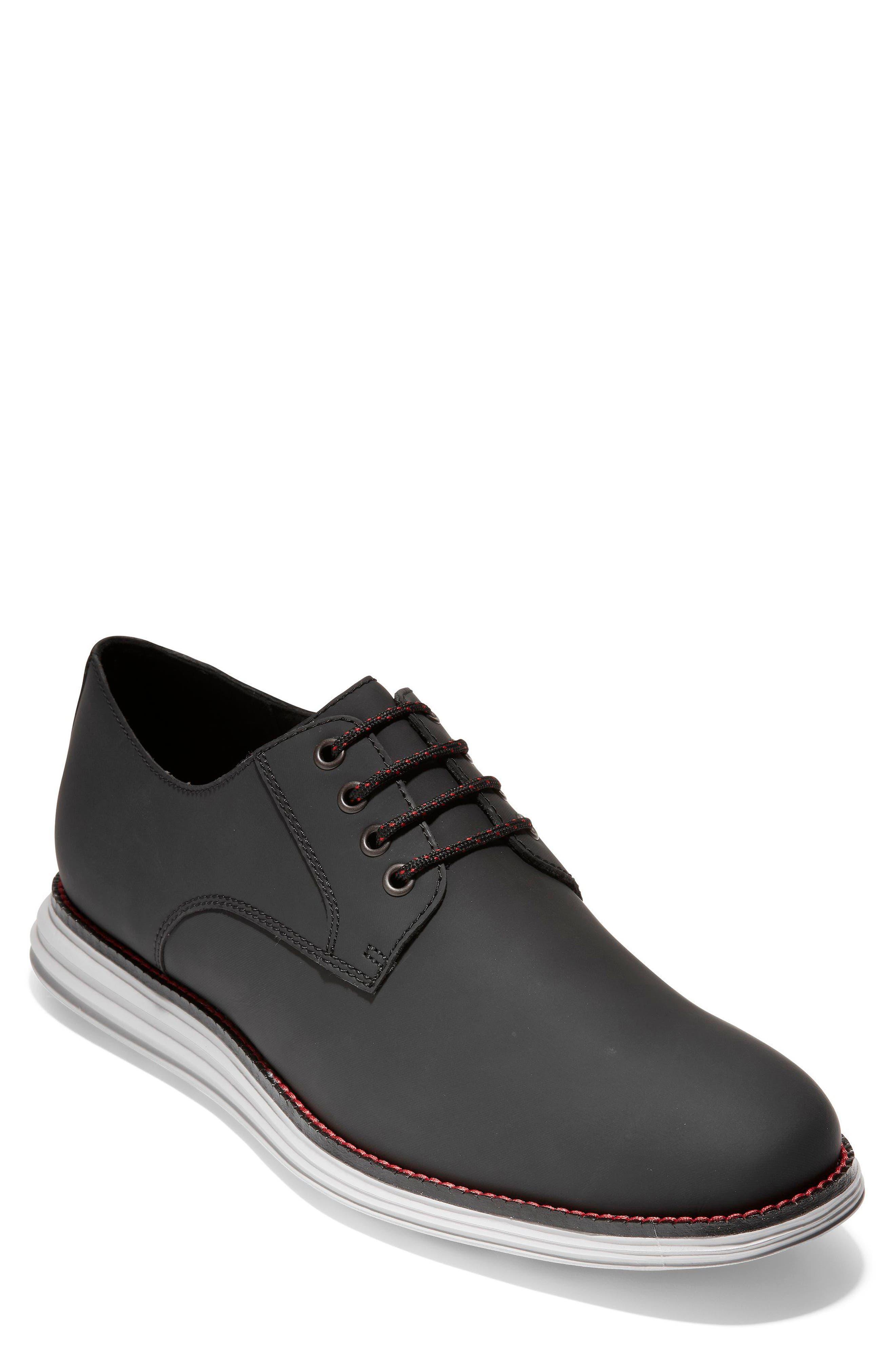 Original Grand Plain Toe Derby,                         Main,                         color, Black Matte Leather