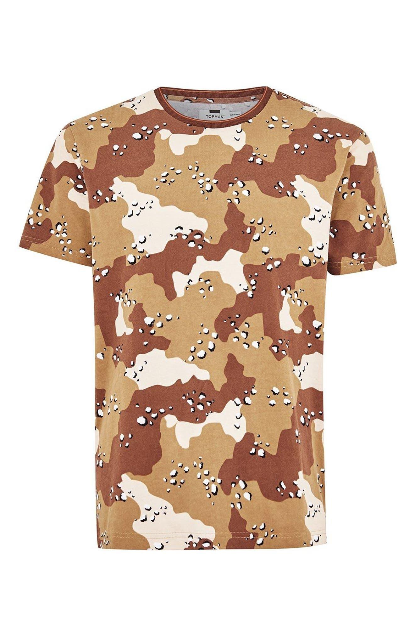 Camouflage Graphic T-Shirt,                             Alternate thumbnail 3, color,                             Beige Multi