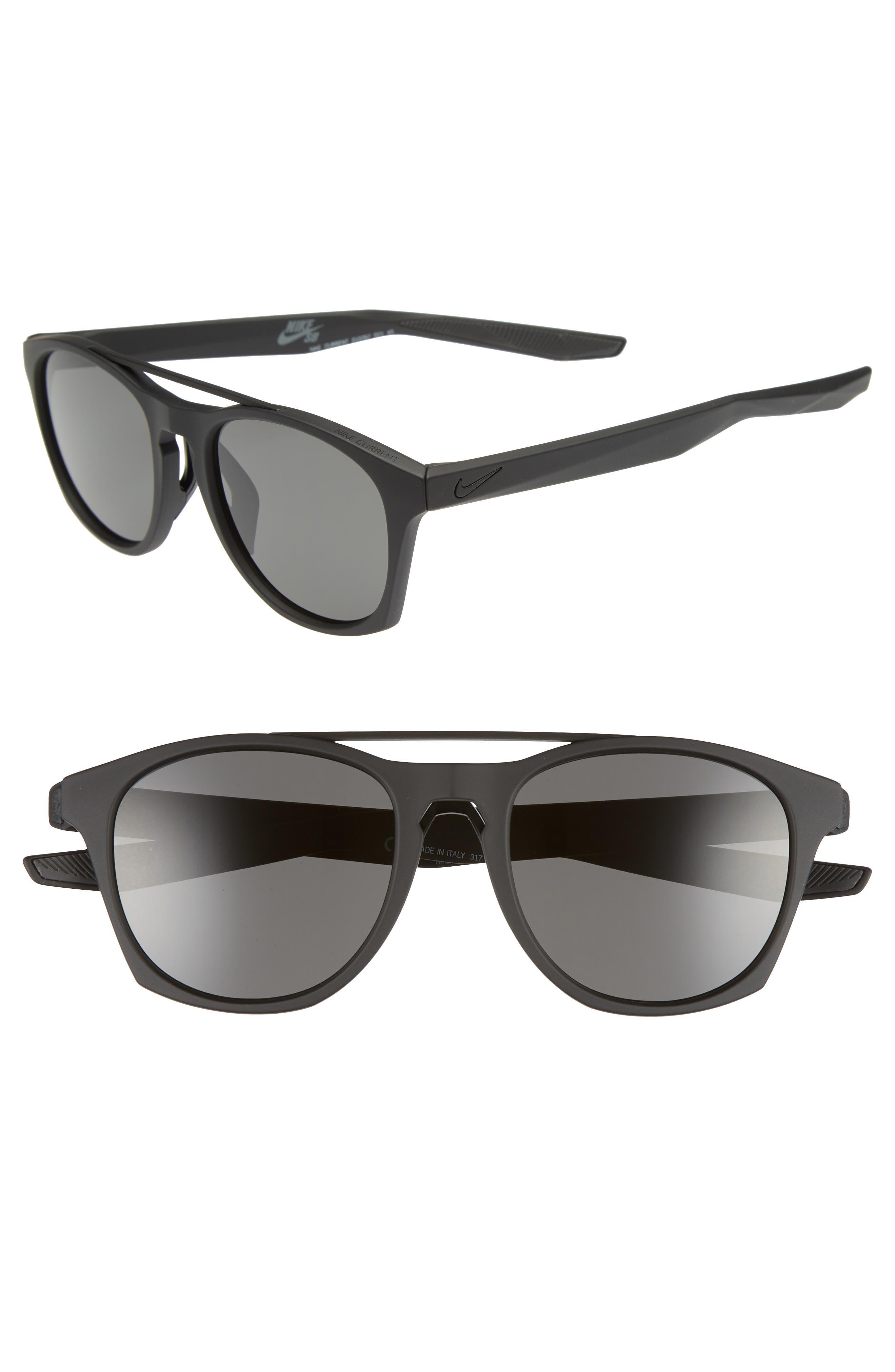 Current 51mm Sunglasses,                             Main thumbnail 1, color,                             Matte Black/ Dark Grey