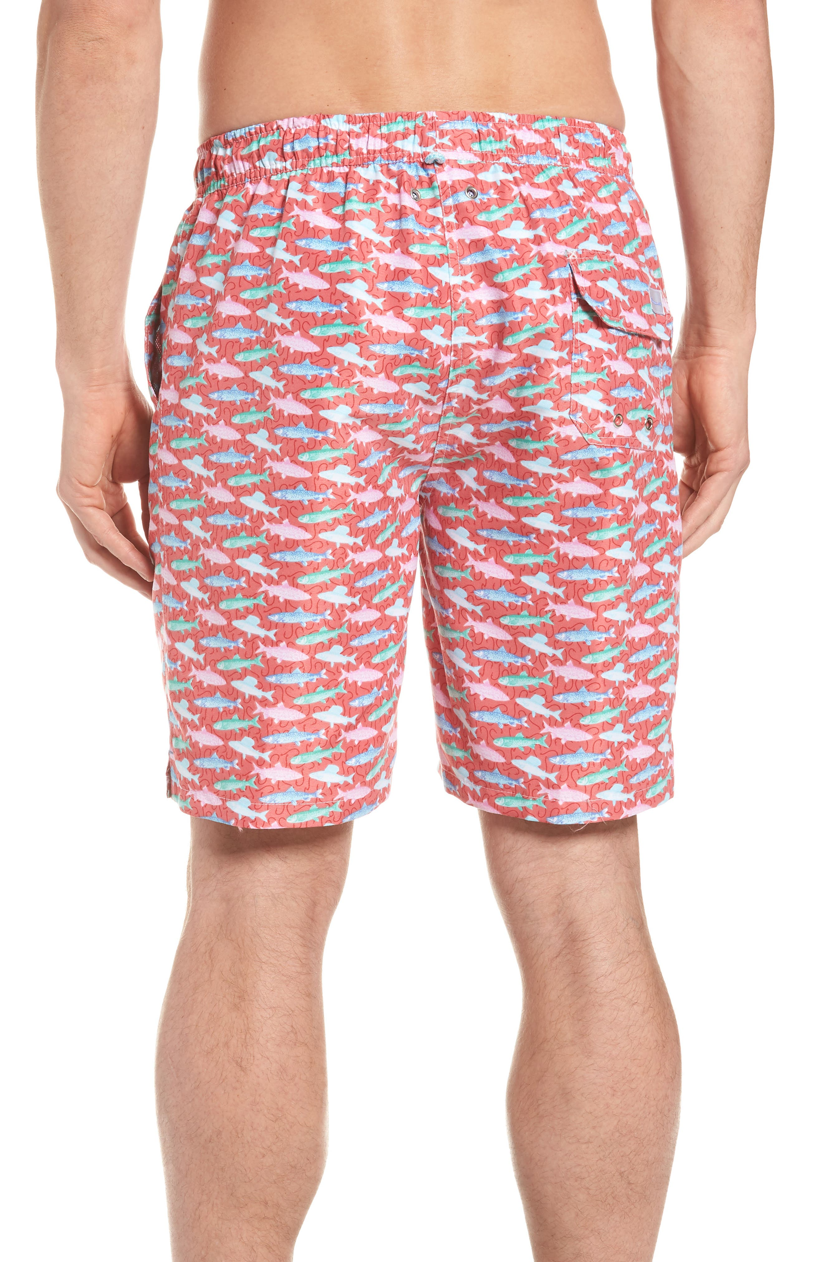 Fishermans Catch Swim Trunks,                             Alternate thumbnail 2, color,                             Cape Red