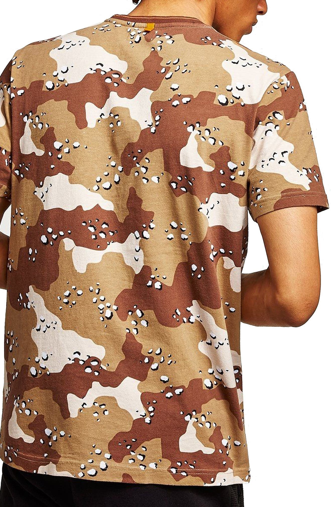 Camouflage Graphic T-Shirt,                             Alternate thumbnail 2, color,                             Beige Multi