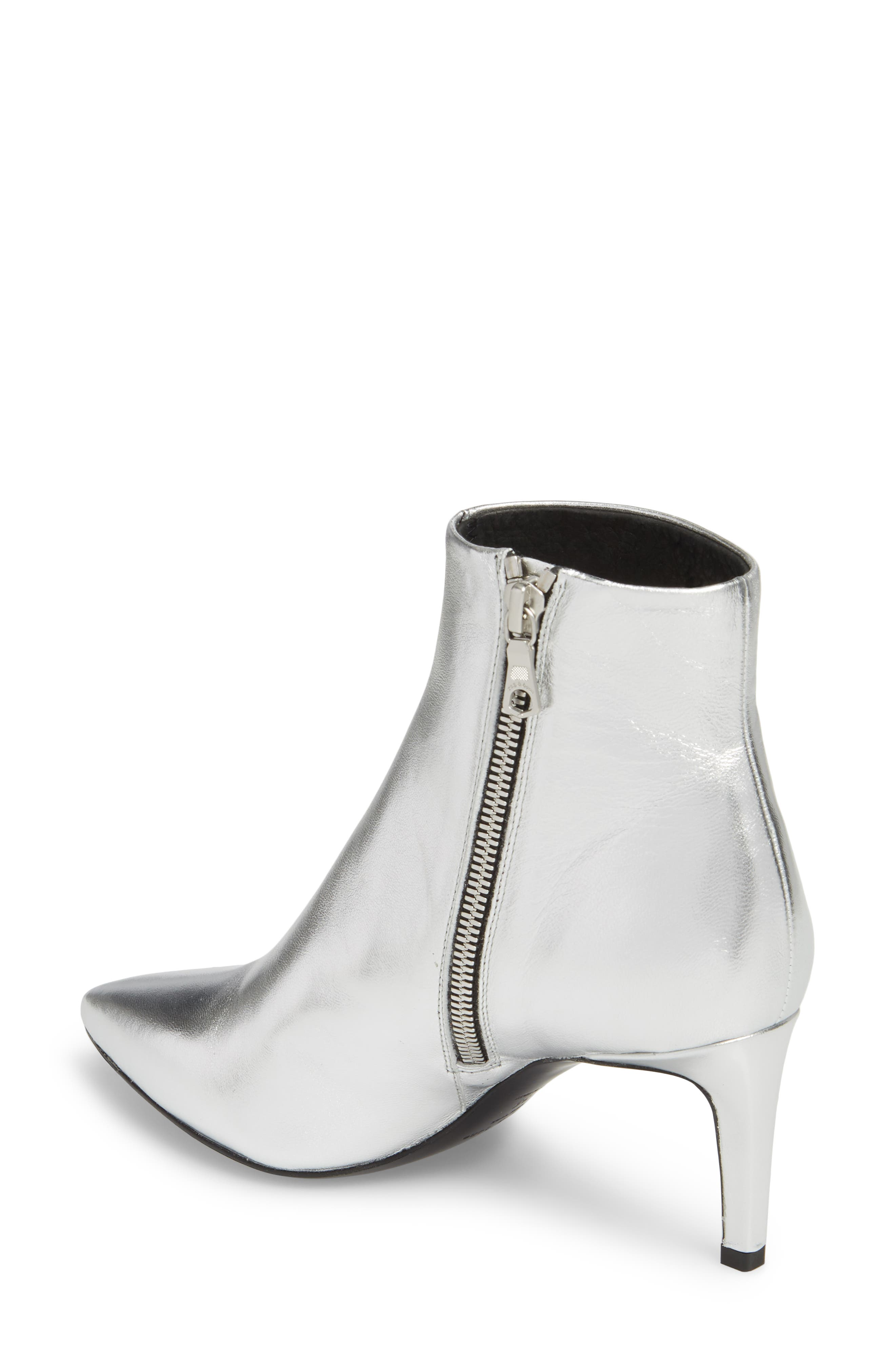 Beha Pointy Toe Bootie,                             Alternate thumbnail 2, color,                             Silver