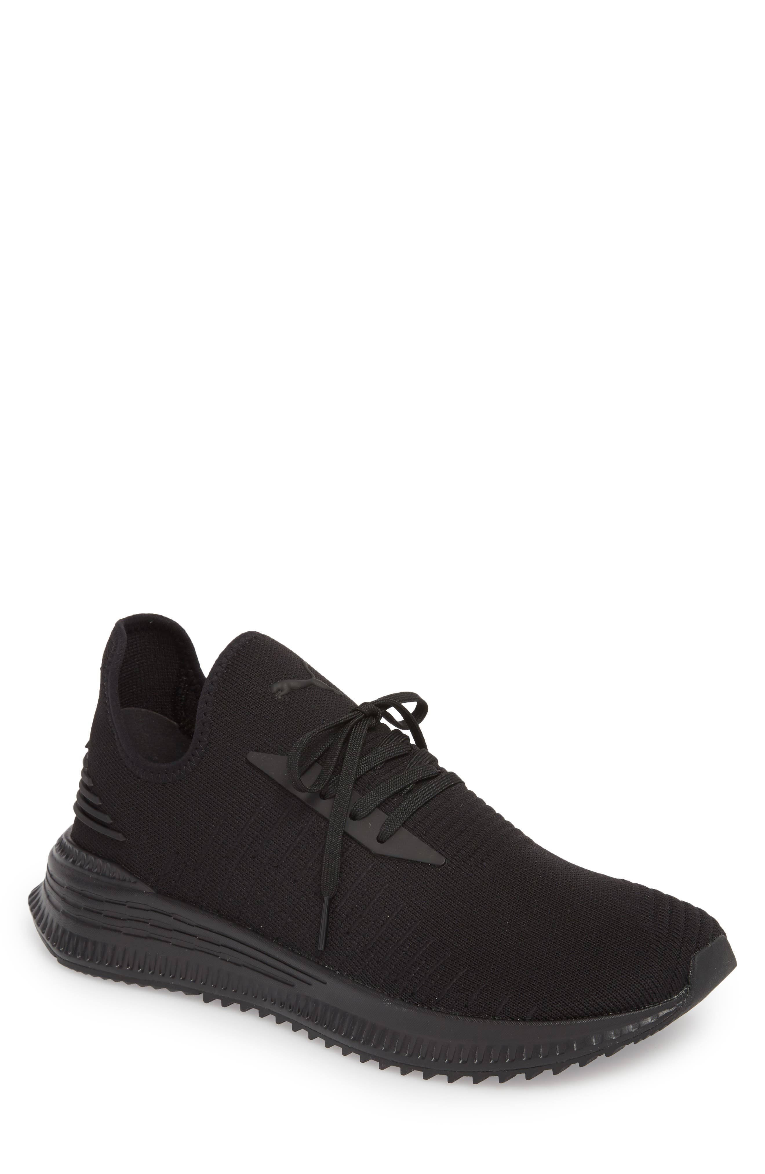 AVID evoKNIT Sneaker,                             Main thumbnail 1, color,                             Black/ Black